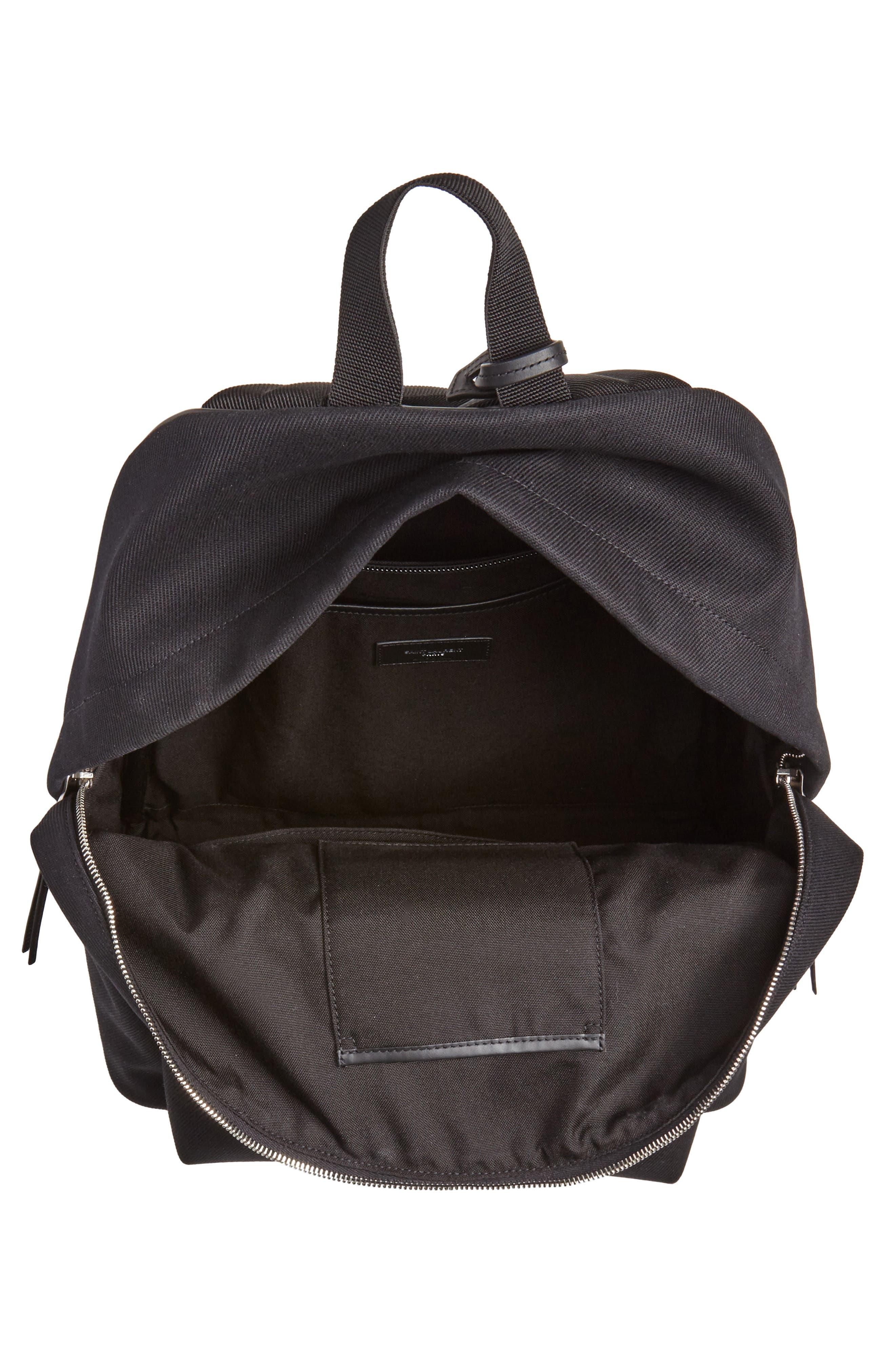 City Canvas Backpack,                             Alternate thumbnail 4, color,                             BLACK