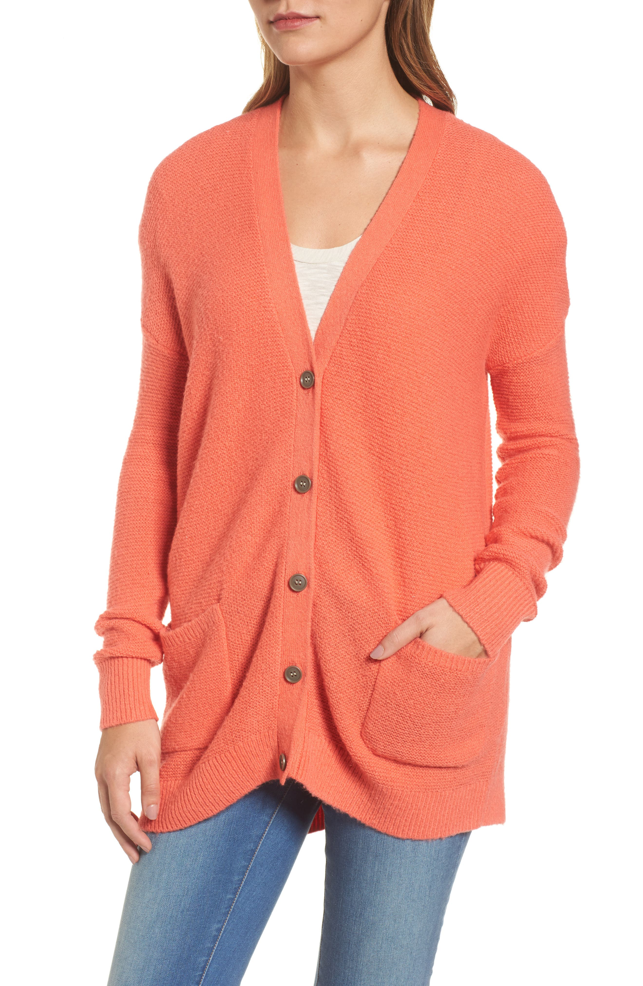 Relaxed Boyfriend Cardigan,                             Alternate thumbnail 28, color,