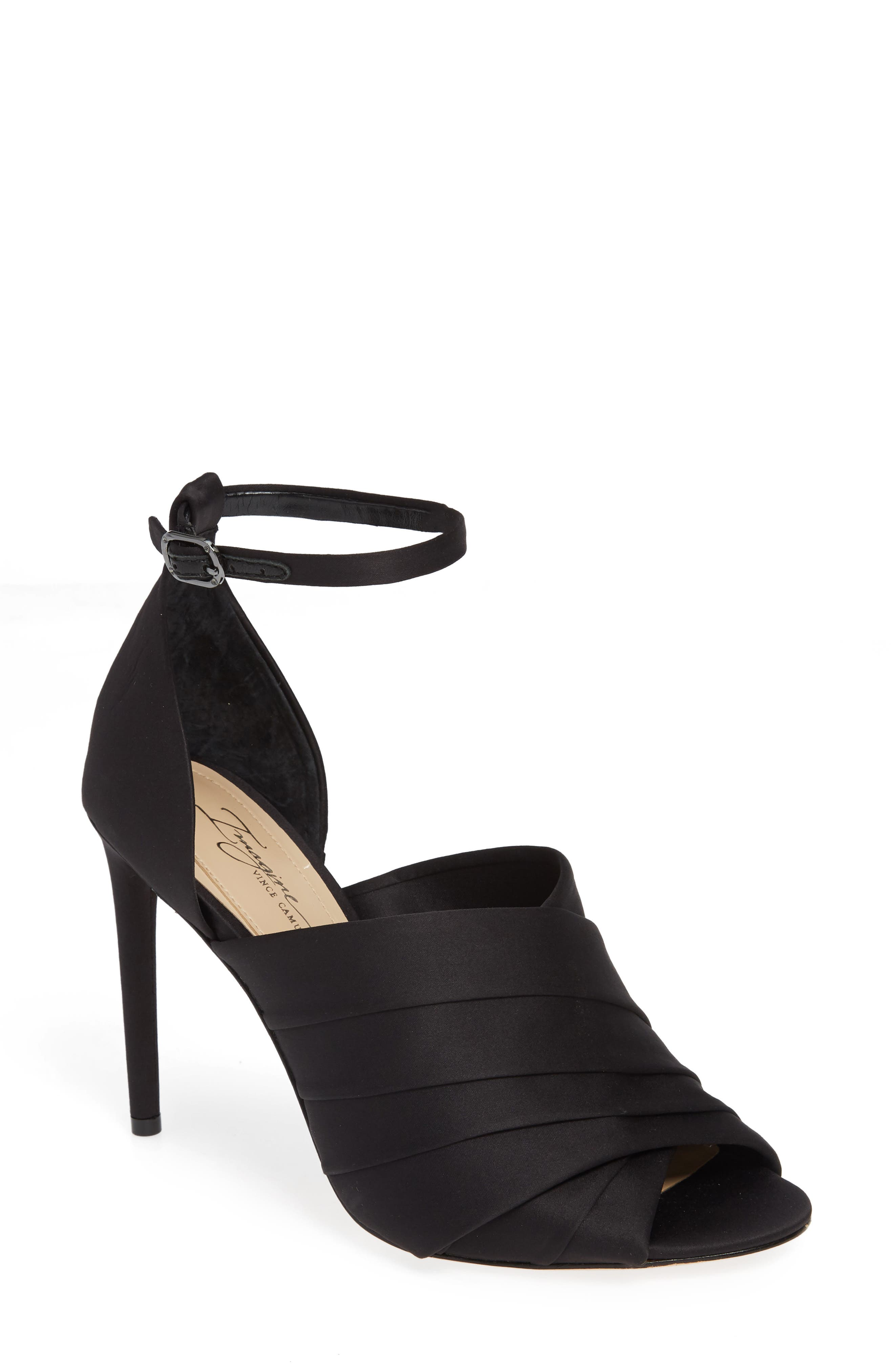 Rander Sandal,                         Main,                         color, BLACK SATIN