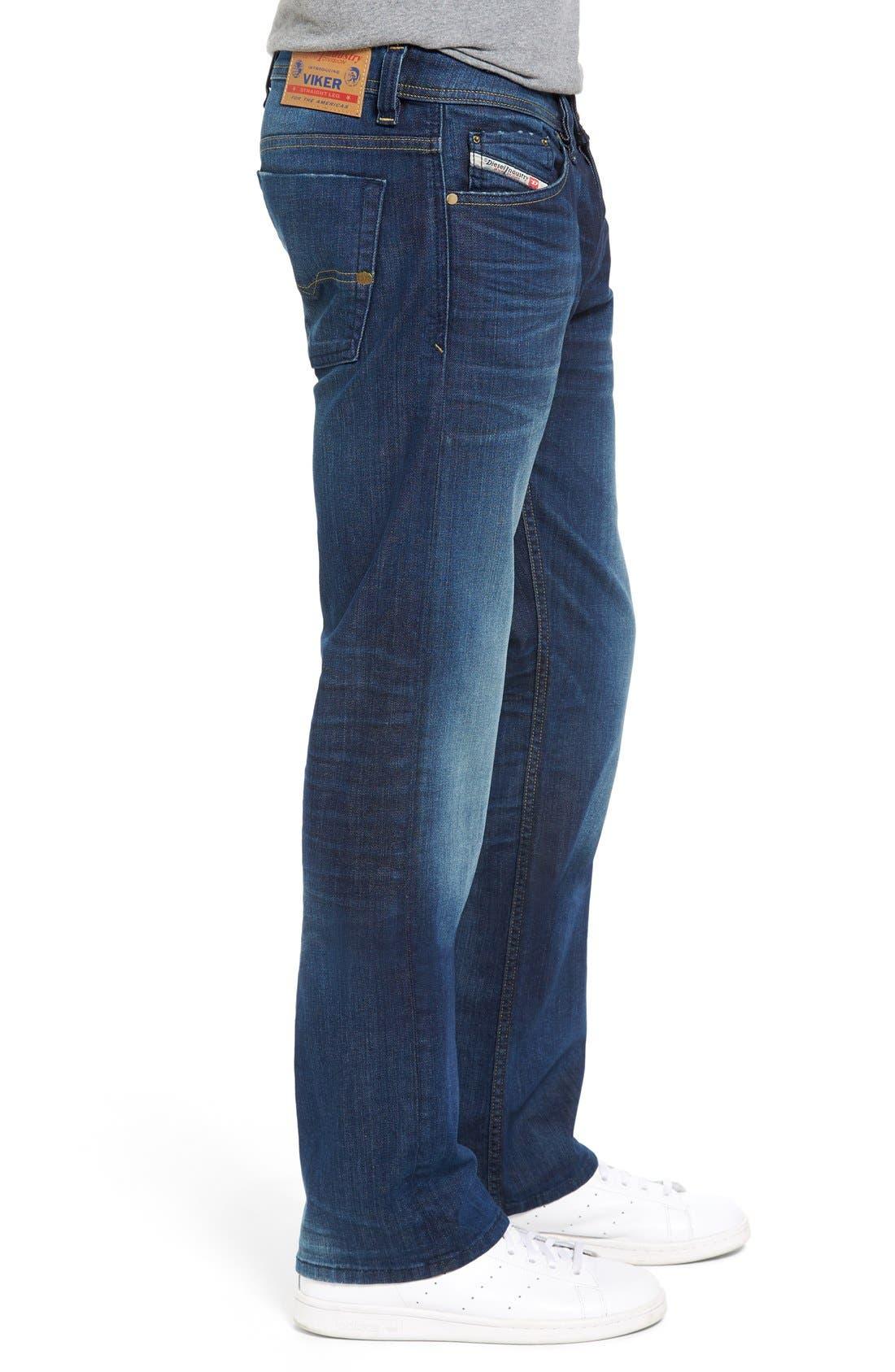 DIESEL Viker Straight Leg Jeans,                             Alternate thumbnail 4, color,                             400