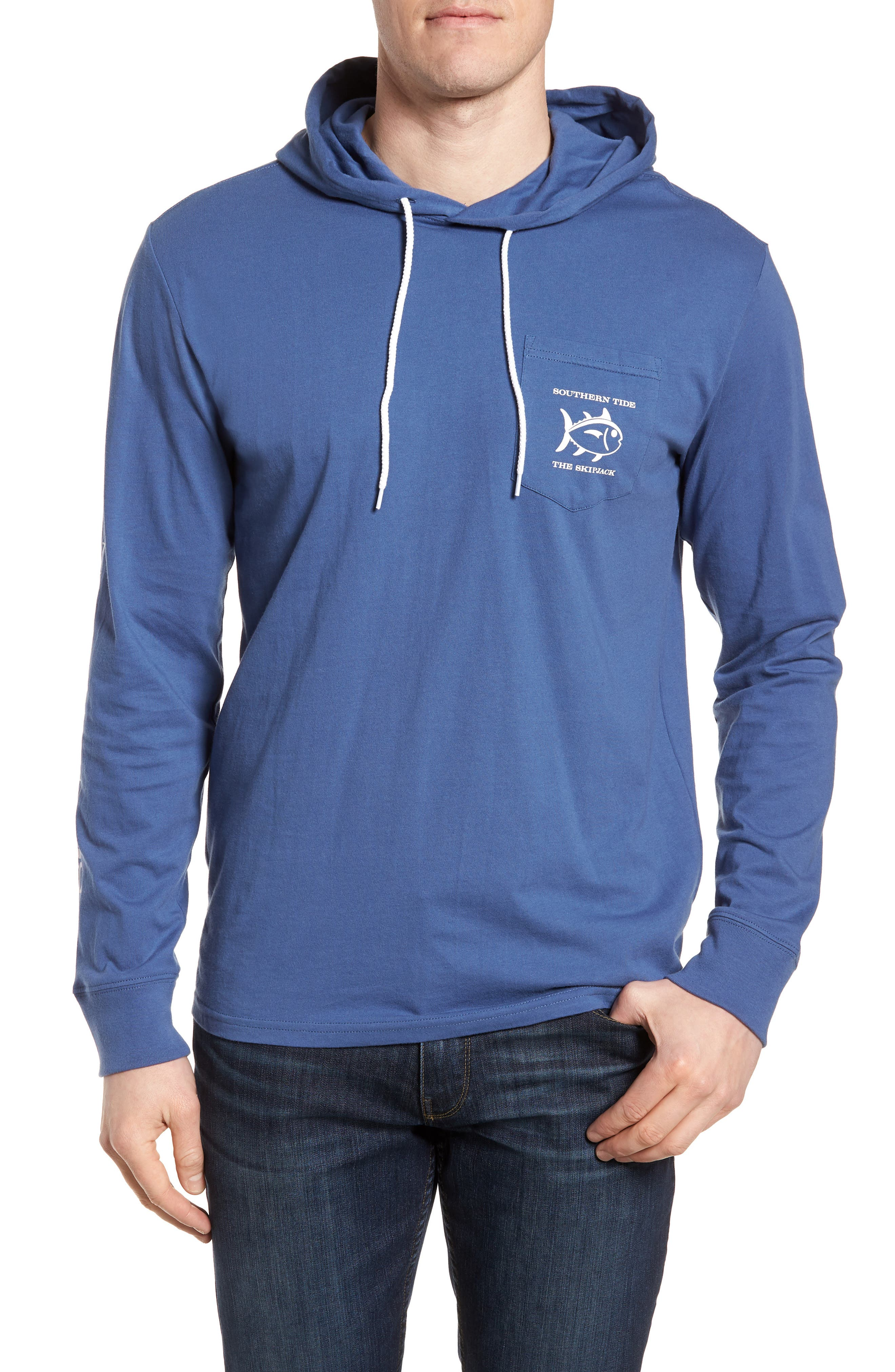 Southern Tide Diamond Logo Hoodie, Blue