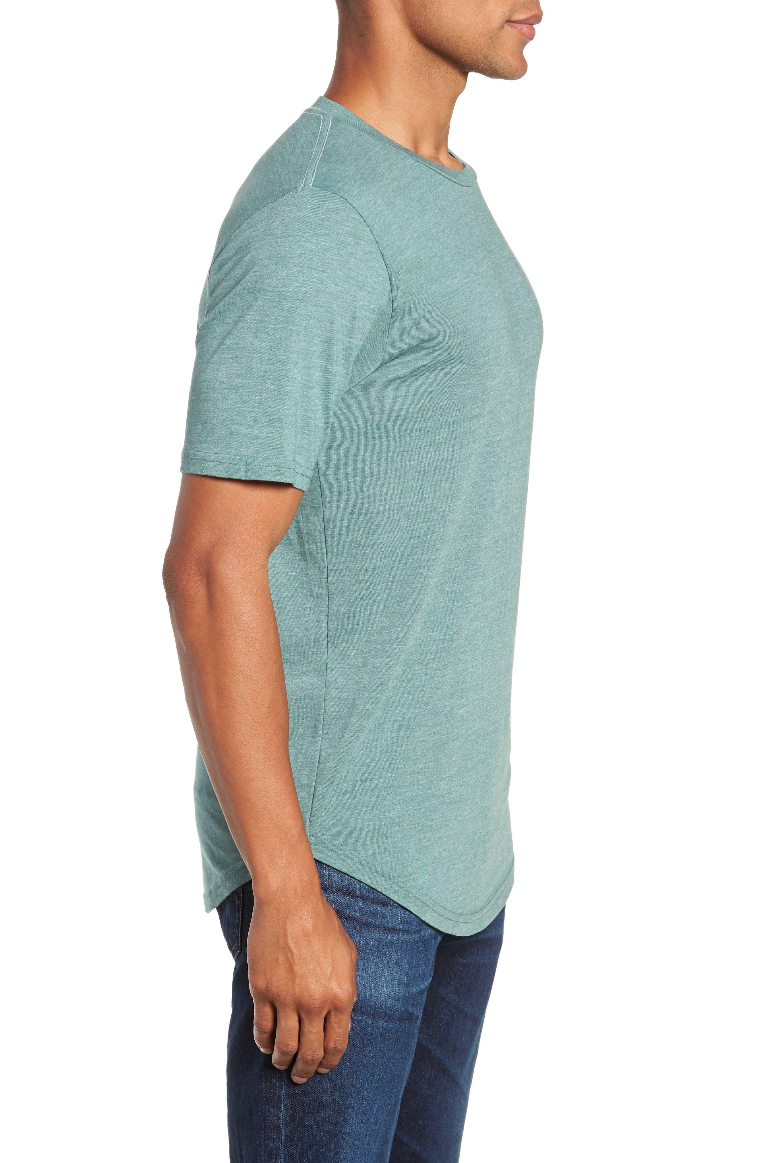 Scallop Triblend Crewneck T-Shirt,                             Alternate thumbnail 3, color,                             PINE