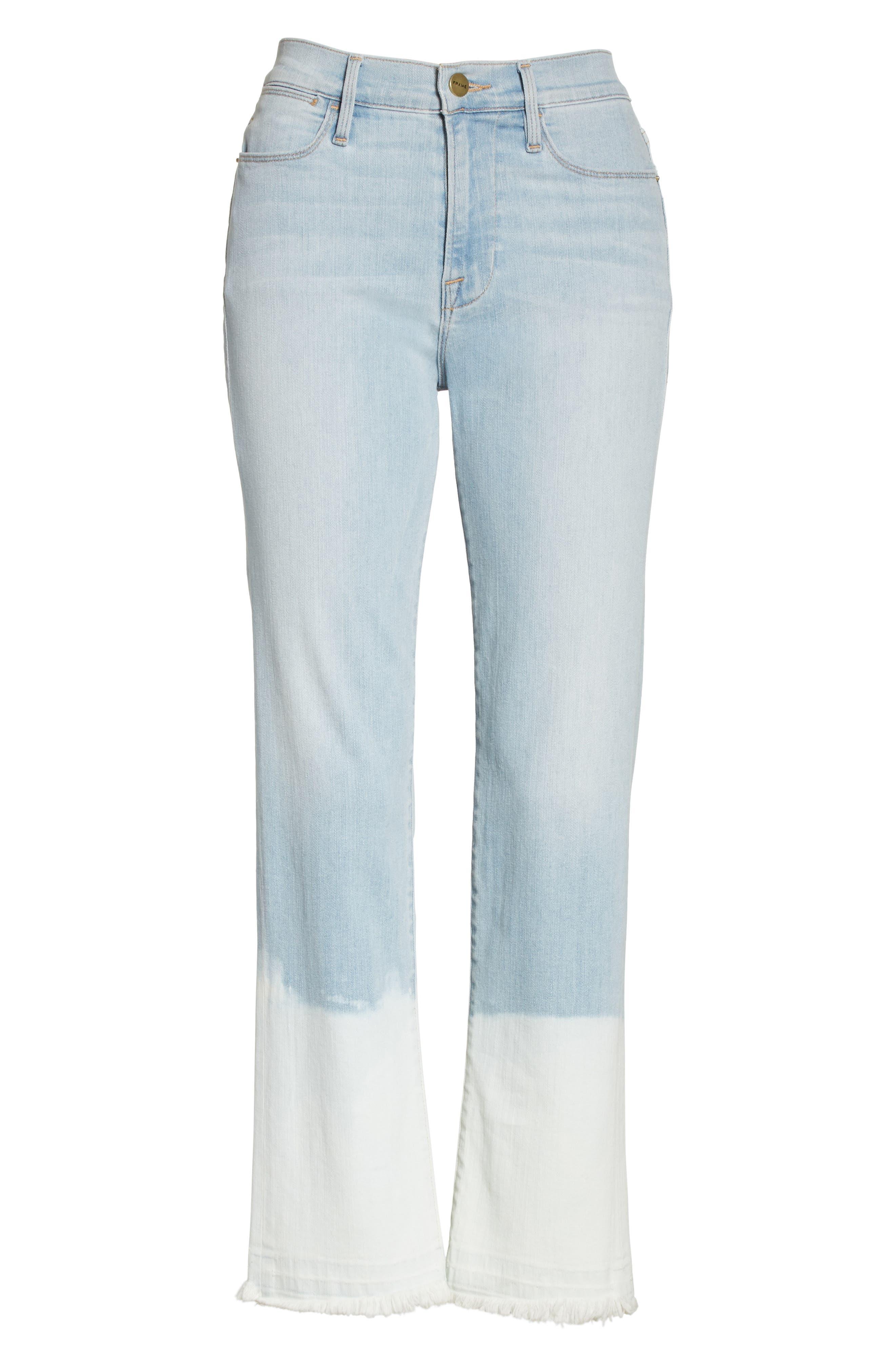 Le High Crop Straight Leg Jeans,                             Alternate thumbnail 7, color,                             450