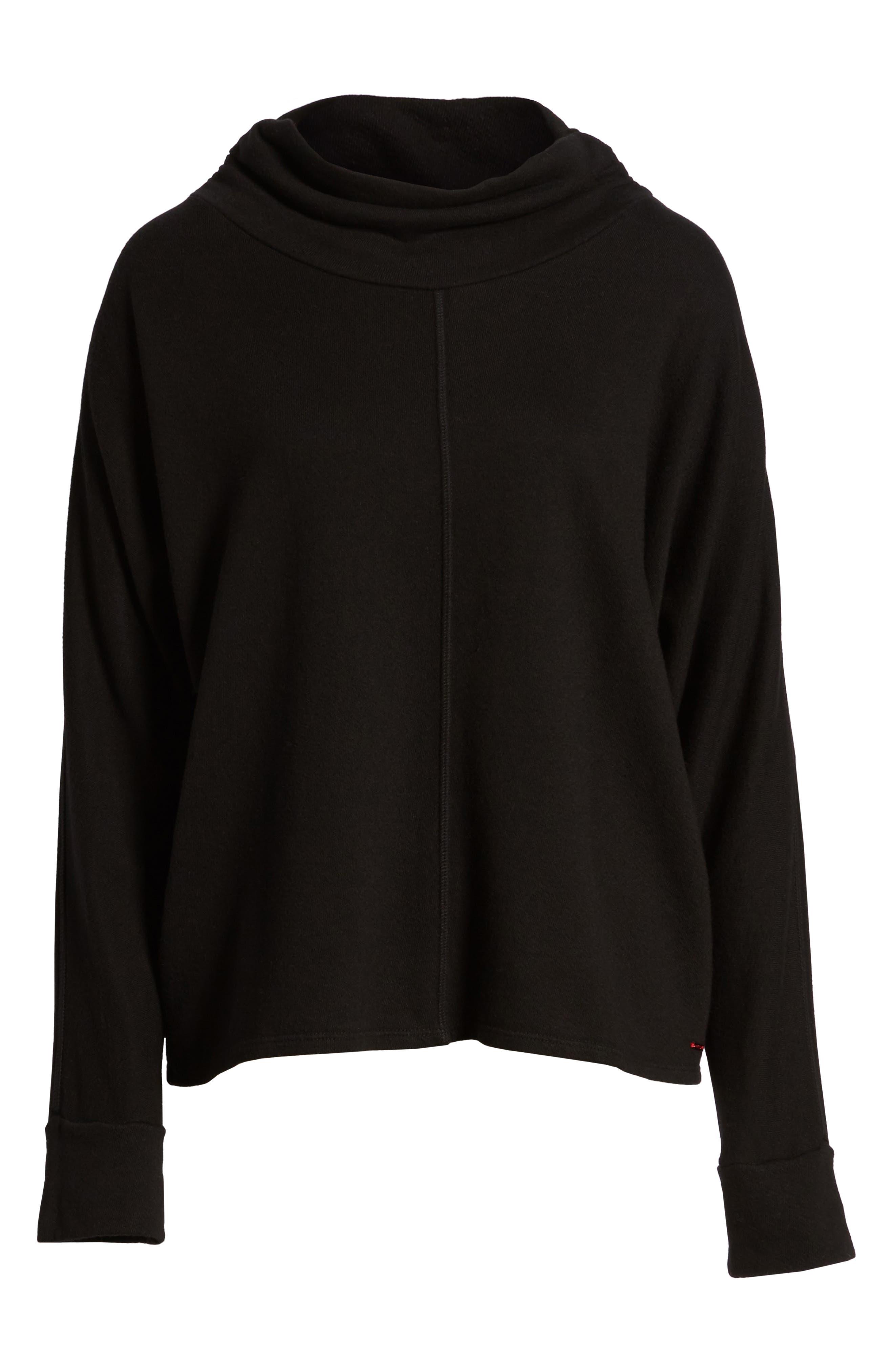 Helix Turtleneck Sweatshirt,                             Alternate thumbnail 6, color,                             001