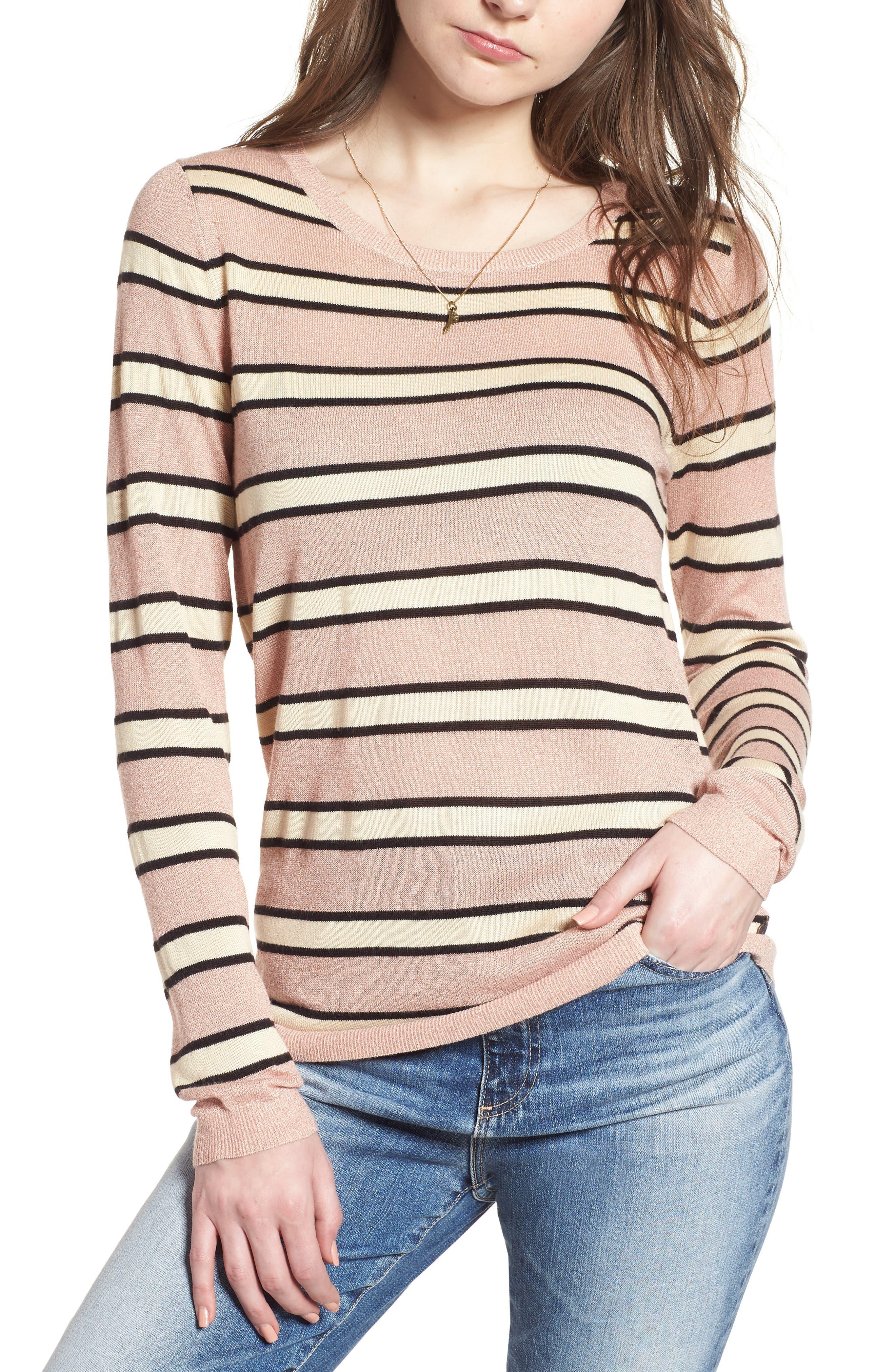 Stripe Sweater,                         Main,                         color, 650