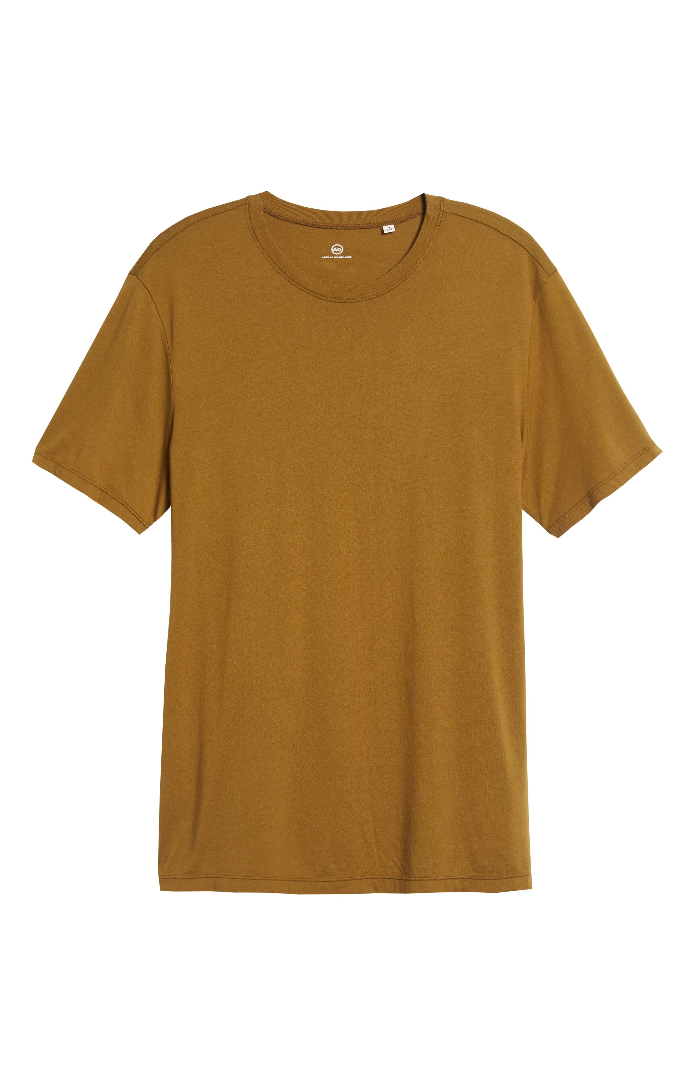 Bryce Slim Fit T-Shirt,                             Alternate thumbnail 6, color,                             GOLDEN OLIVE