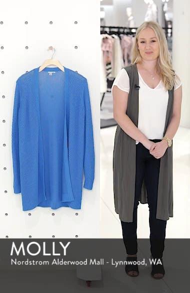 Textured Cotton Knit Cardigan, sales video thumbnail