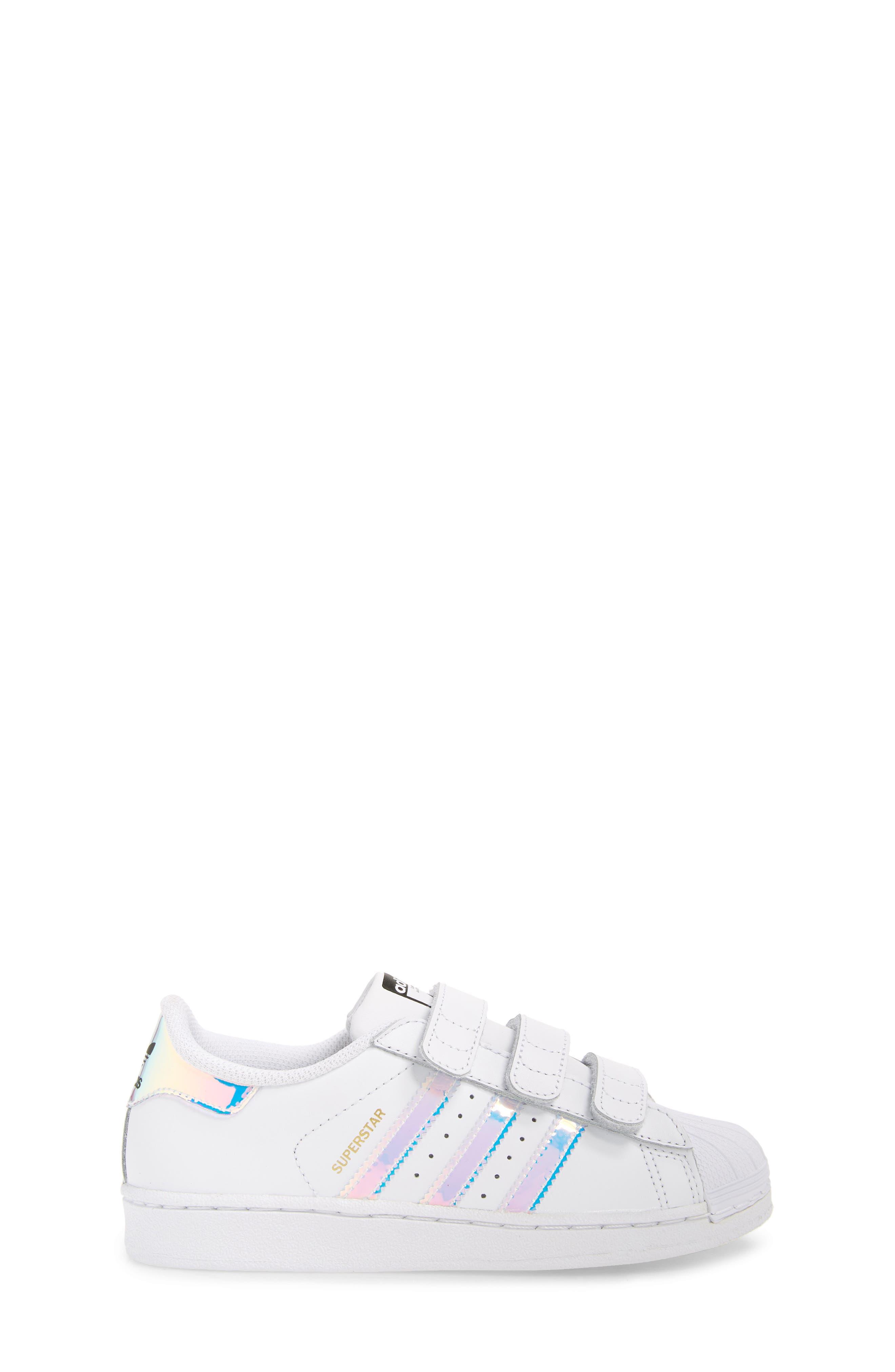 Superstar - Iridescent Sneaker,                             Alternate thumbnail 3, color,                             100