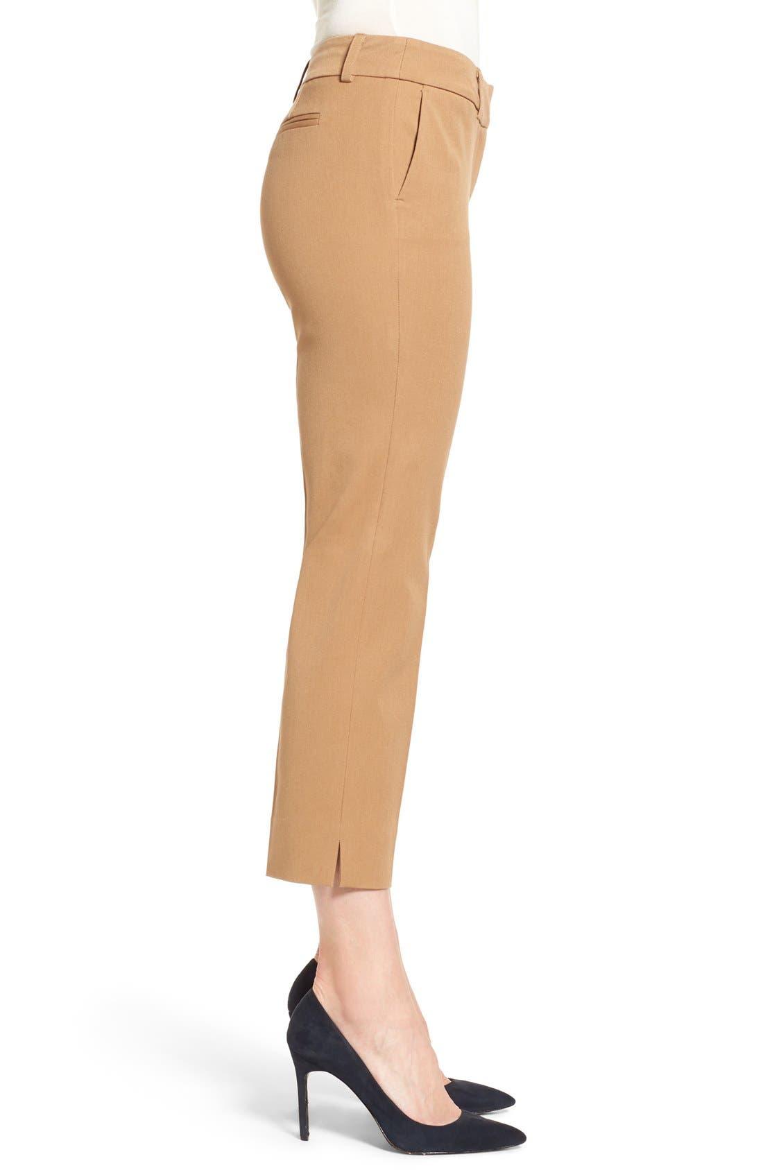 Crop Stretch Cotton Pants,                             Alternate thumbnail 53, color,