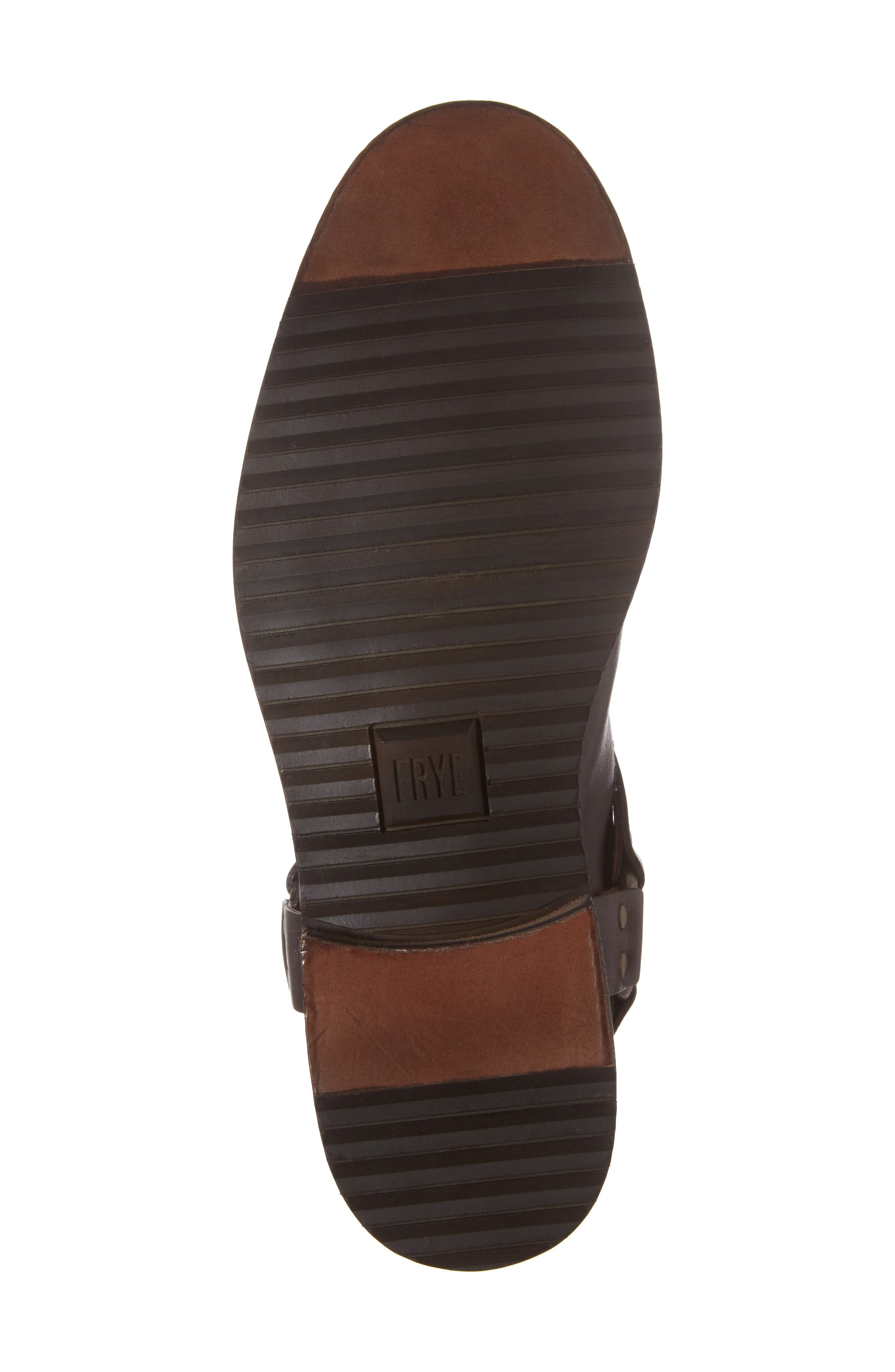 Sam Harness Boot,                             Alternate thumbnail 6, color,                             DARK BROWN LEATHER