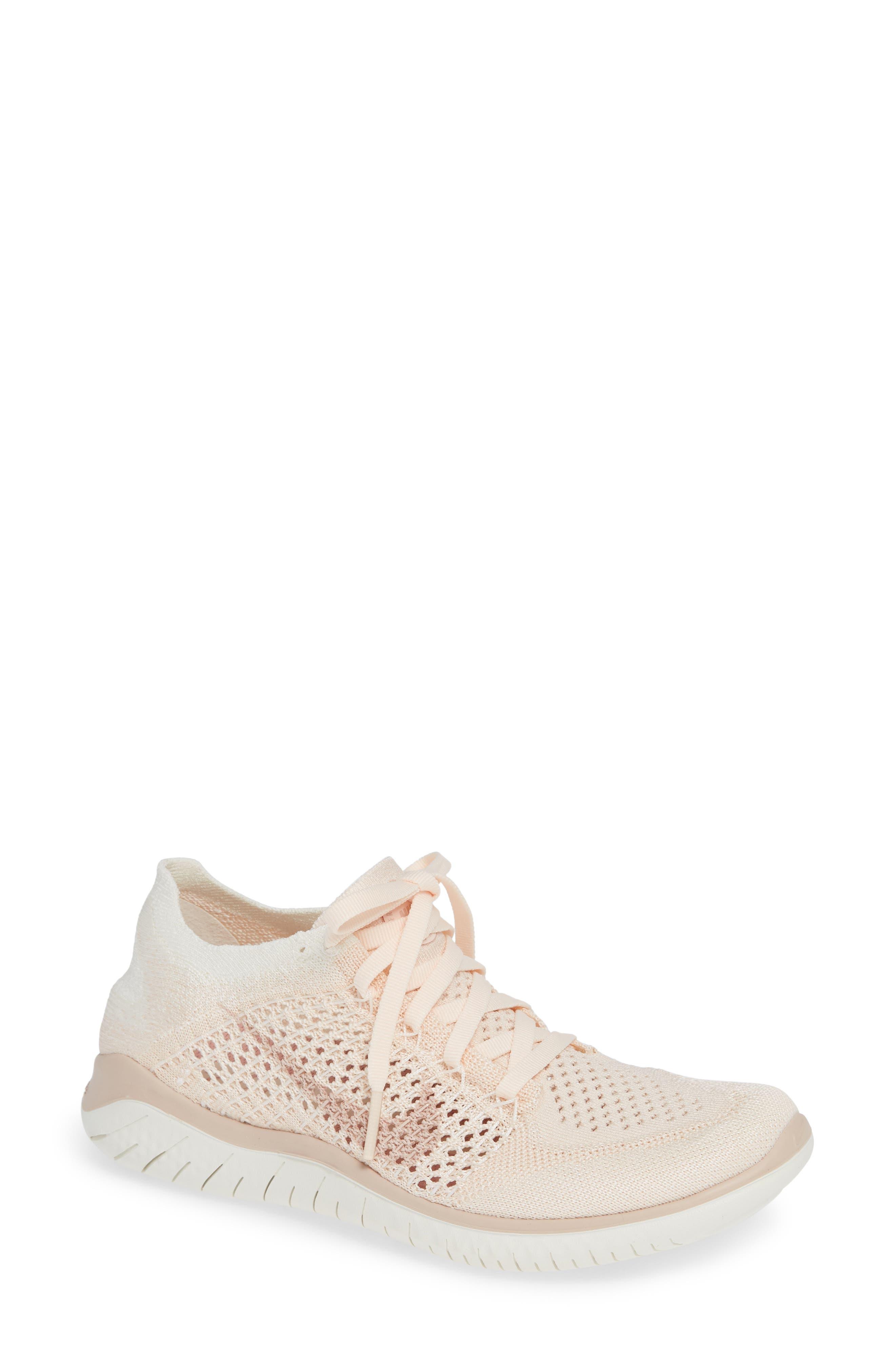 Shop Nike Free Rn Flyknit 2018 Running Shoe In Guava Ice  Beige ... b6f92a3e5