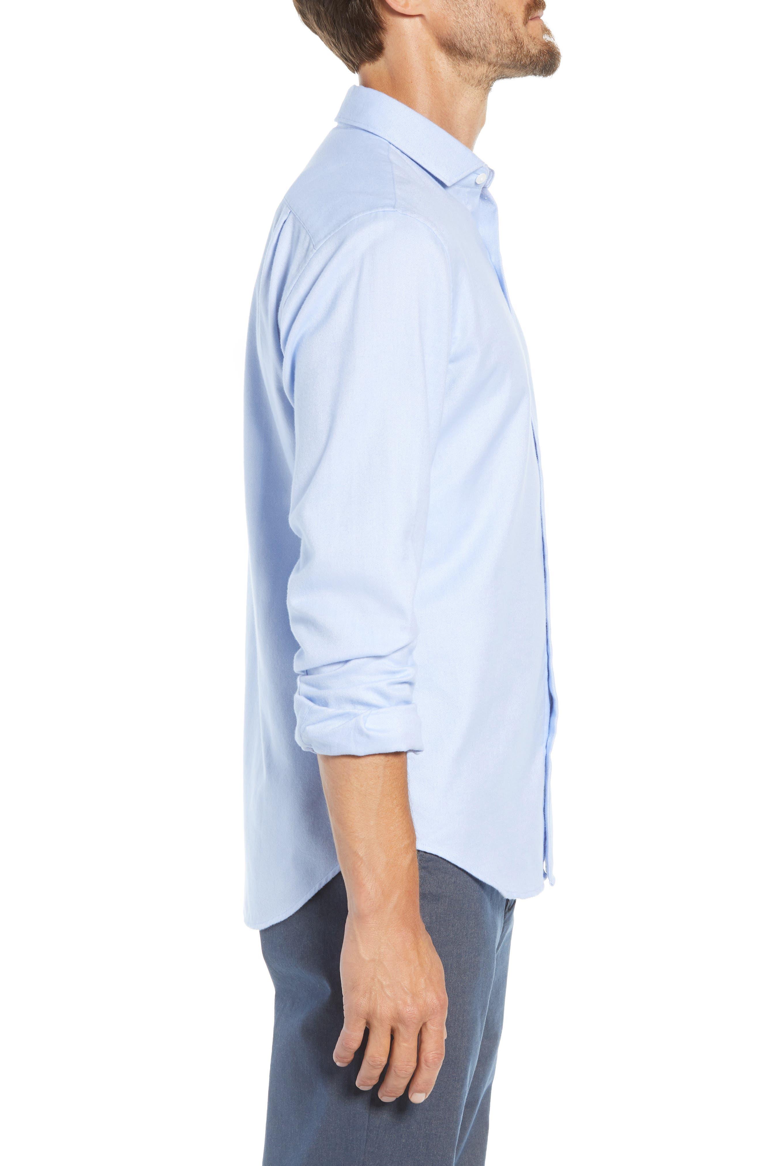 Unbutton Slim Fit Sport Shirt,                             Alternate thumbnail 4, color,                             400