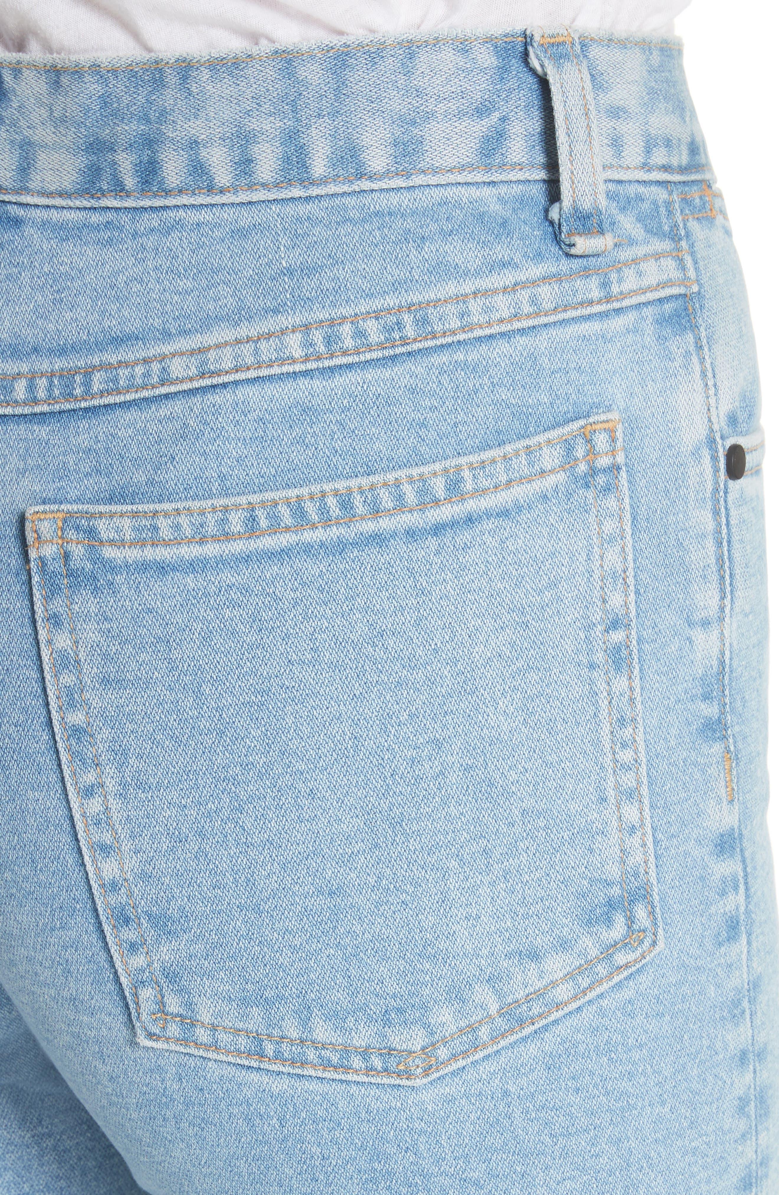 Justine High Waist Wide Leg Trouser Jeans,                             Alternate thumbnail 4, color,                             450