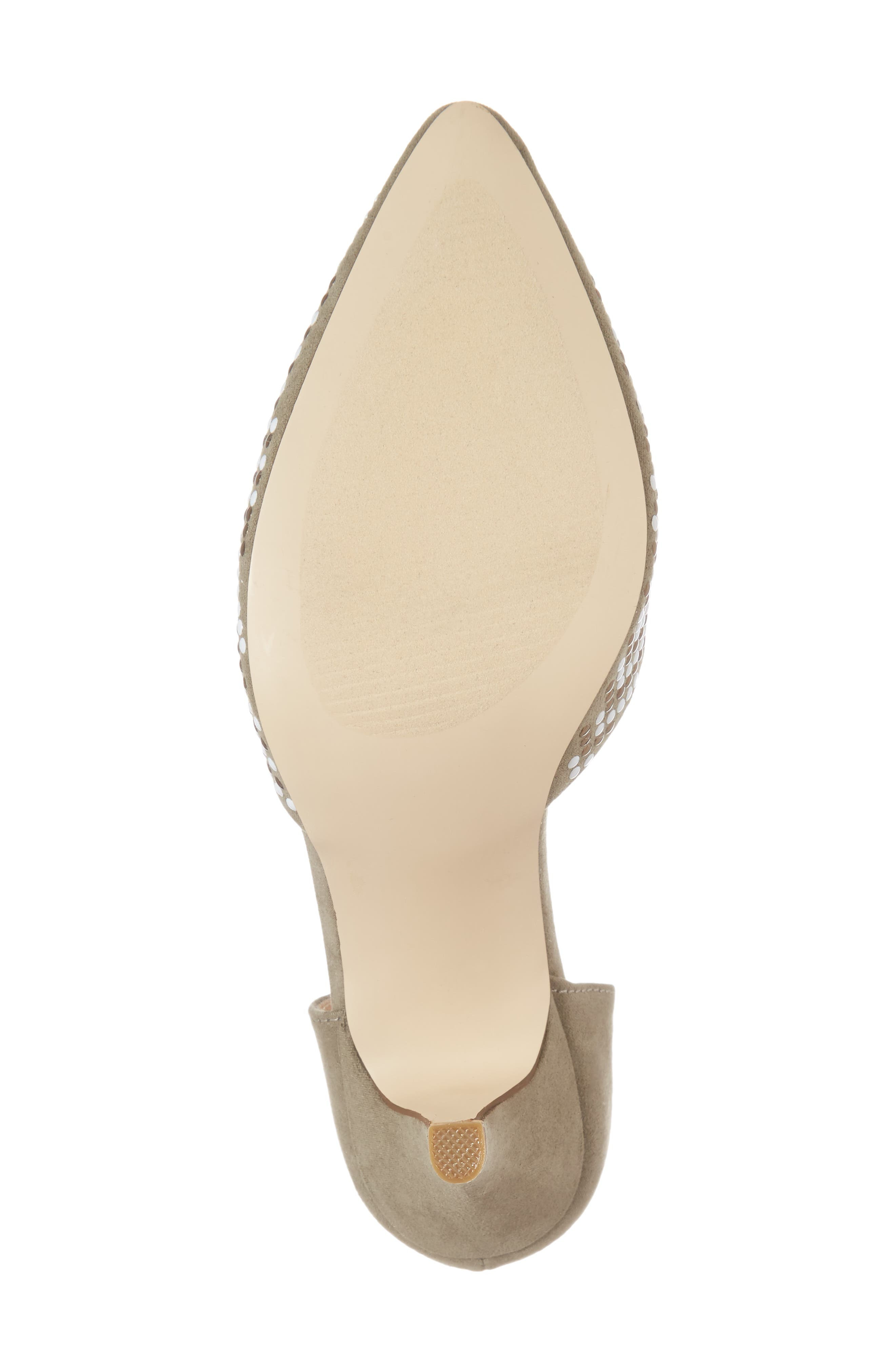 Mimosa Studded d'Orsay Pump,                             Alternate thumbnail 6, color,                             OLIVE SUEDE