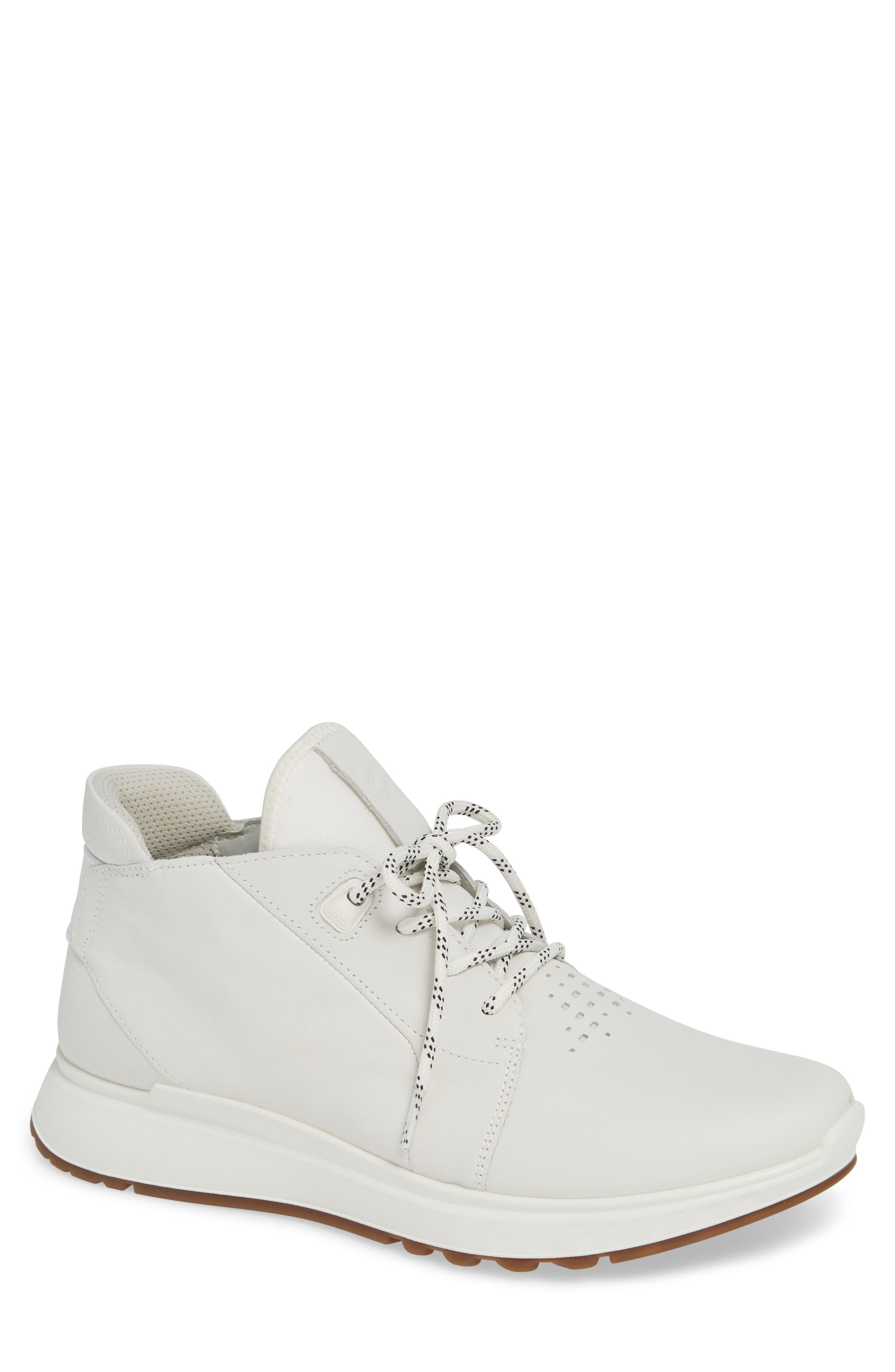 Ecco St1 High Top Zipper Sneaker,9.5 - White