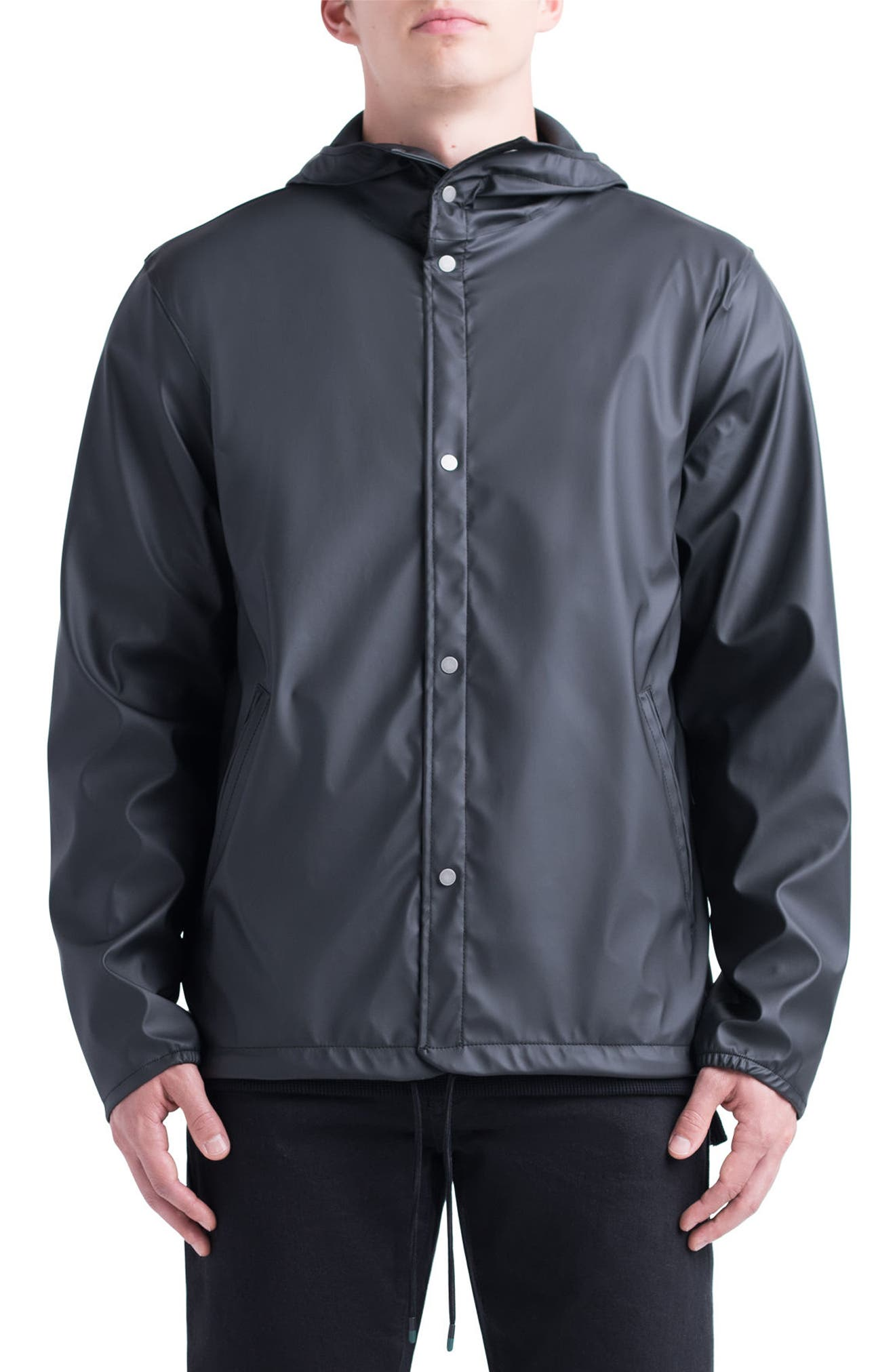 Forecast Hooded Coaches Jacket,                             Main thumbnail 1, color,                             002