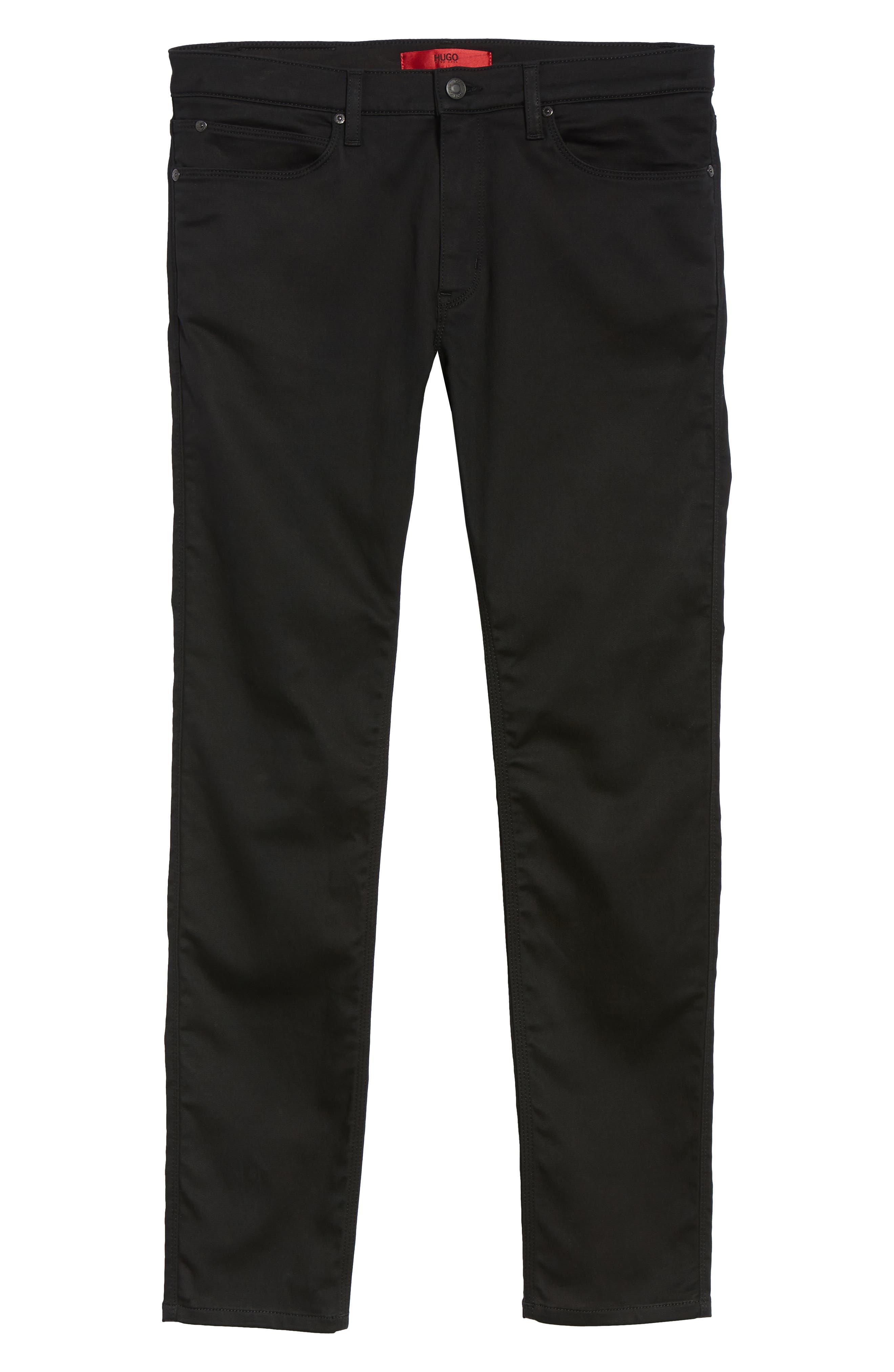 734 Skinny Fit Jeans,                             Alternate thumbnail 6, color,                             BLACK