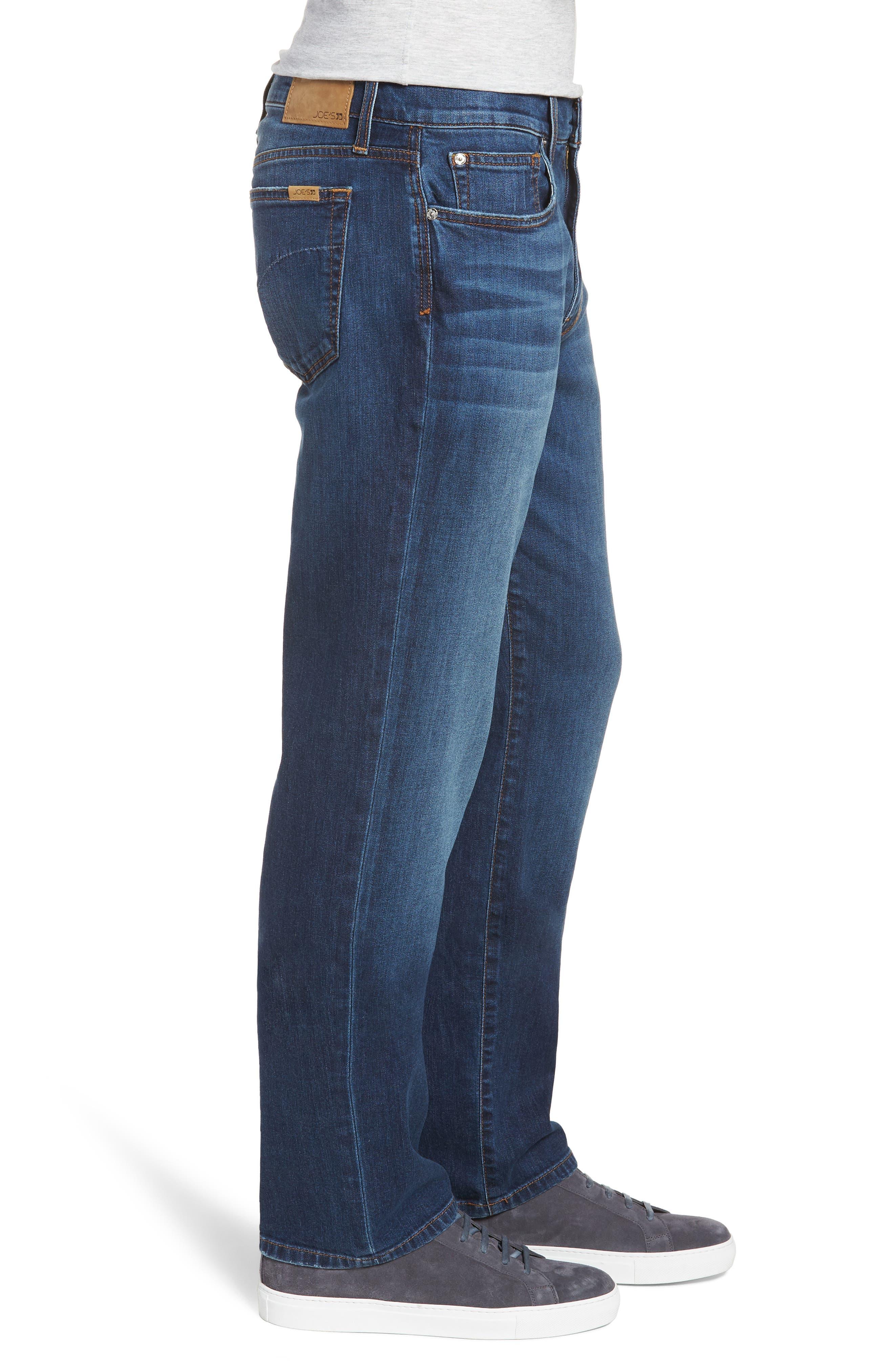 Classic Straight Leg Jeans,                             Alternate thumbnail 3, color,                             VALEN