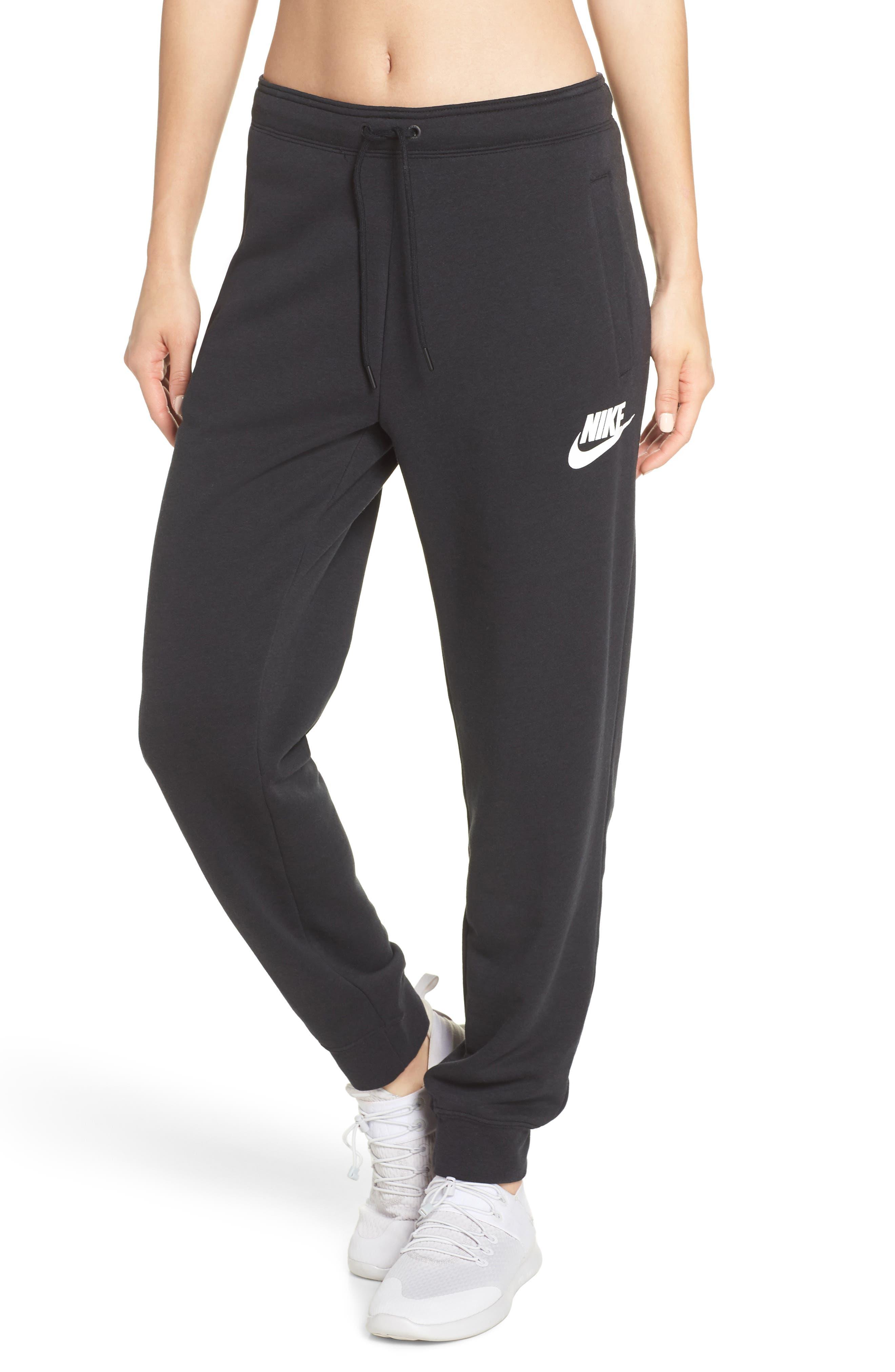 Sportswear Rally Jogger Pants,                             Main thumbnail 1, color,                             BLACK/ BLACK/ WHITE