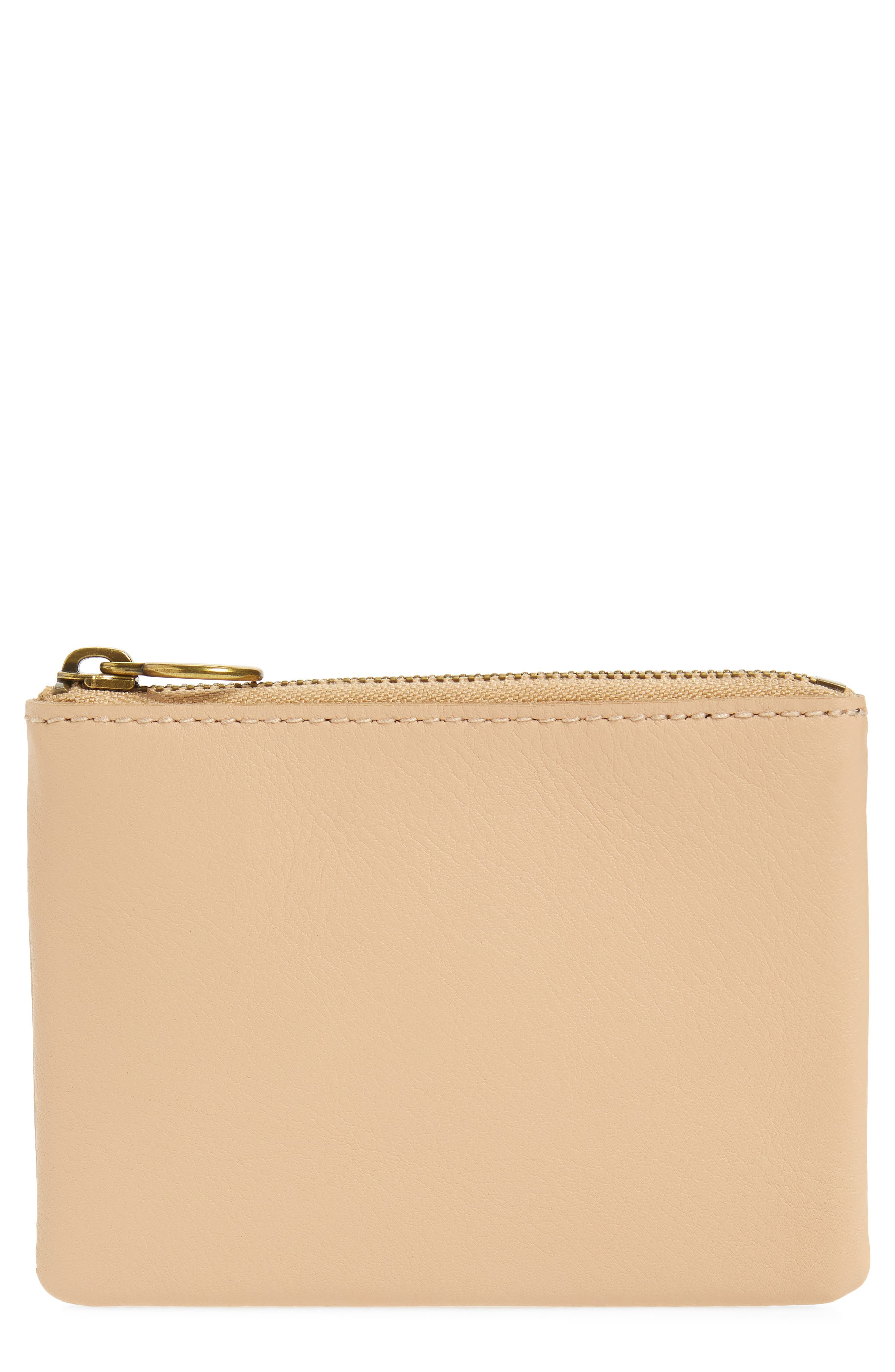 The Leather Pouch Wallet,                         Main,                         color, LINEN