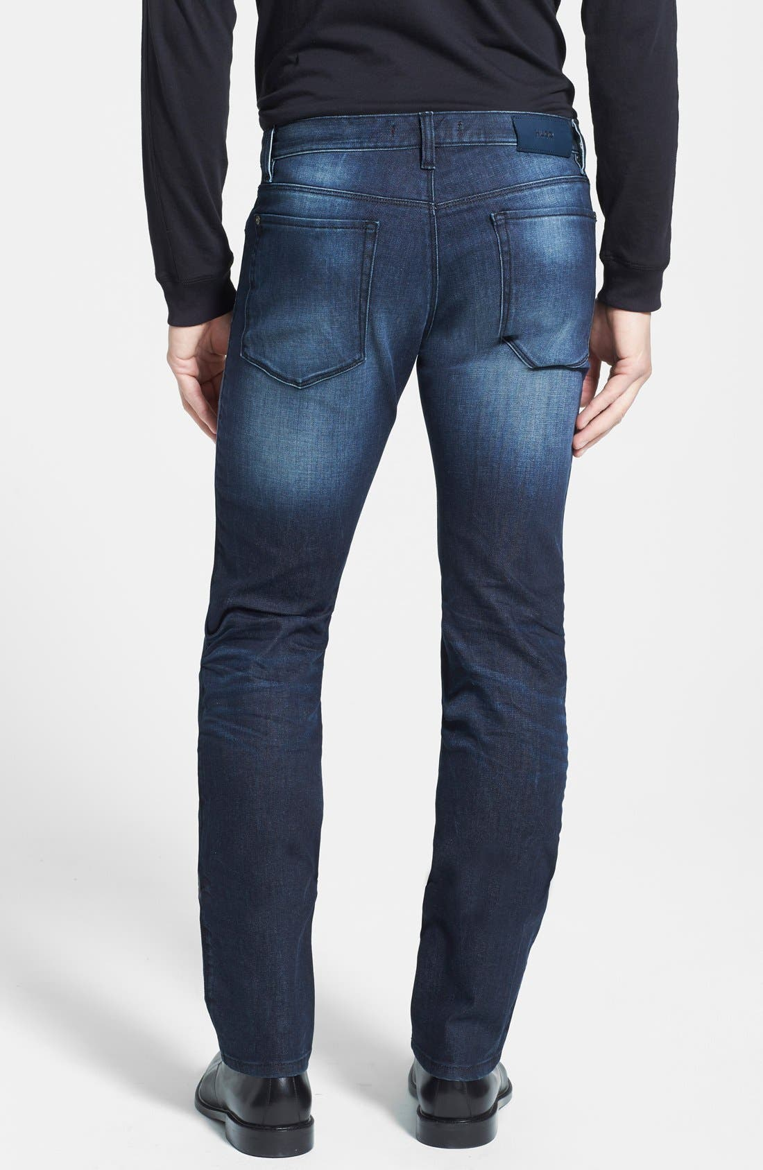 HUGO '708' Slim Fit Jeans,                             Alternate thumbnail 6, color,