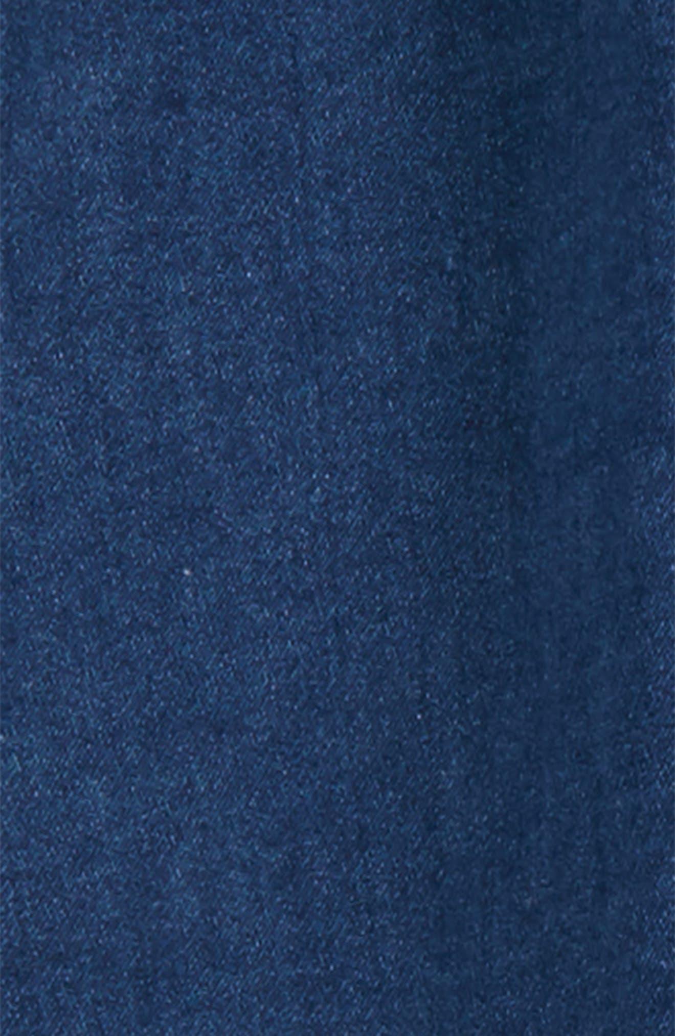 Diagonal Baggy Denim Pants,                             Alternate thumbnail 2, color,                             400