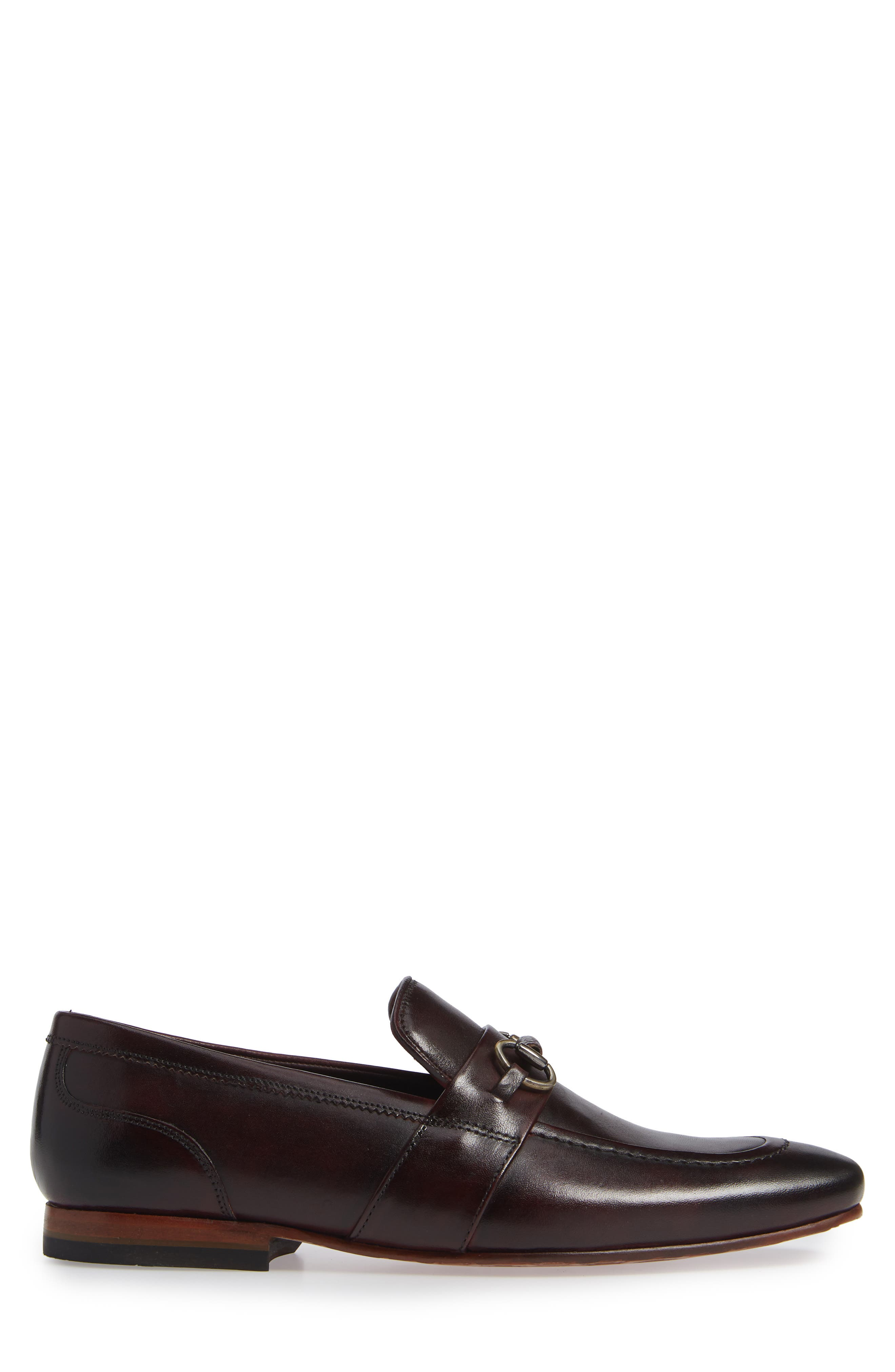 Daiser Bit Loafer,                             Alternate thumbnail 3, color,                             DARK RED LEATHER