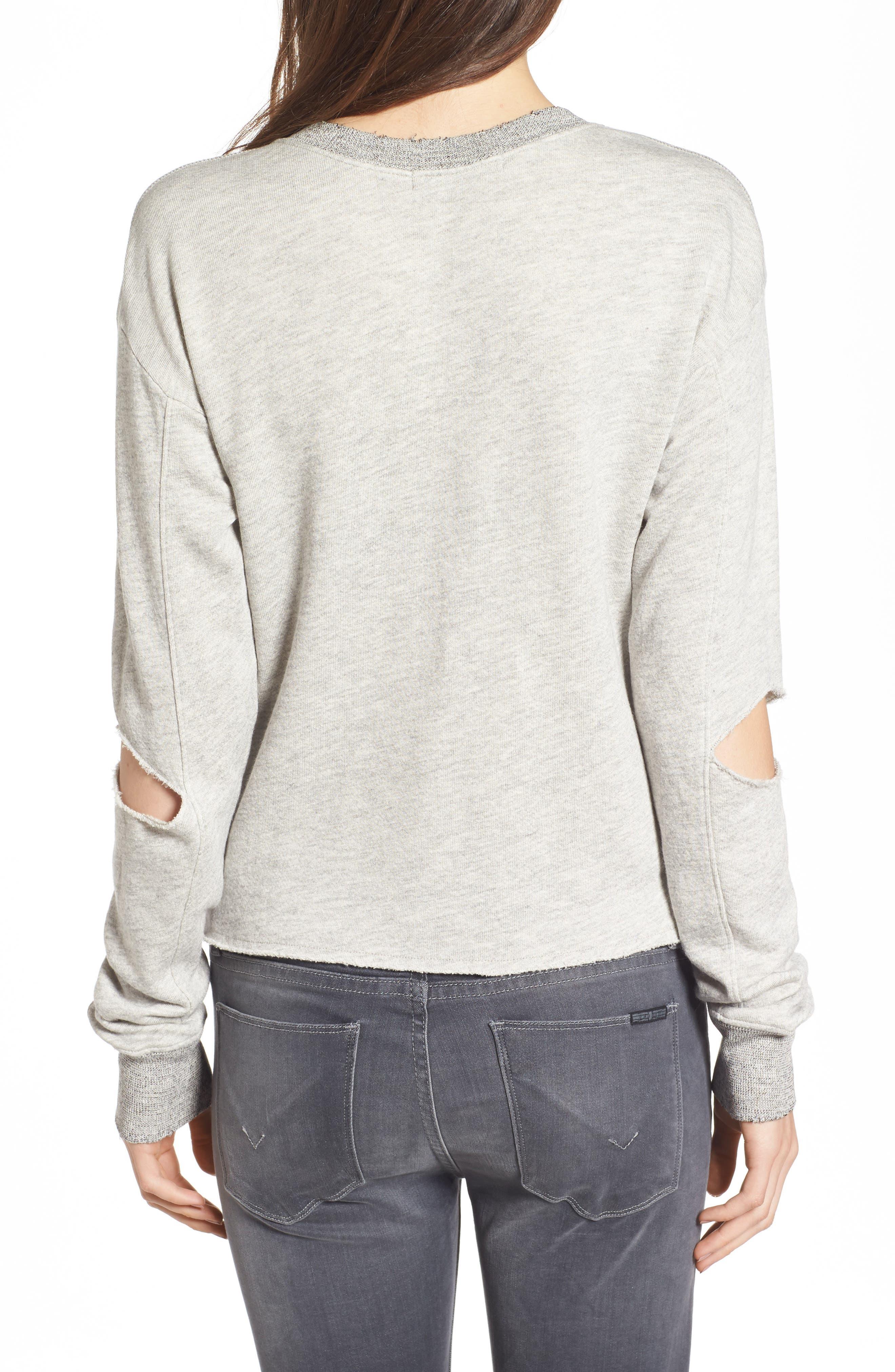Savannah Cutout Sweatshirt,                             Alternate thumbnail 2, color,                             030