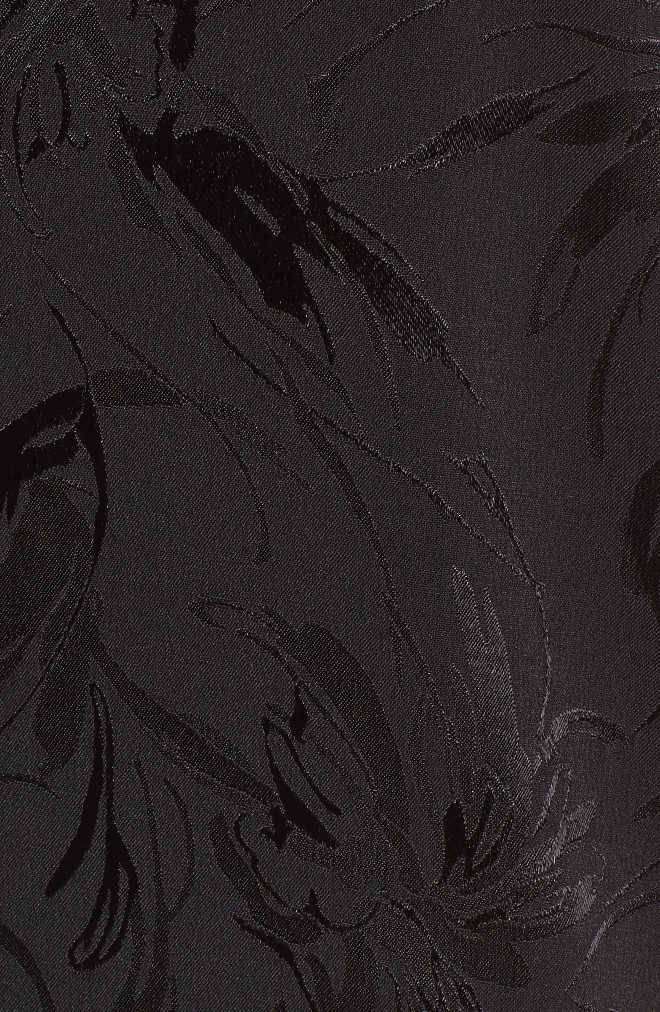 Jacquard Jumpsuit,                             Alternate thumbnail 5, color,                             001