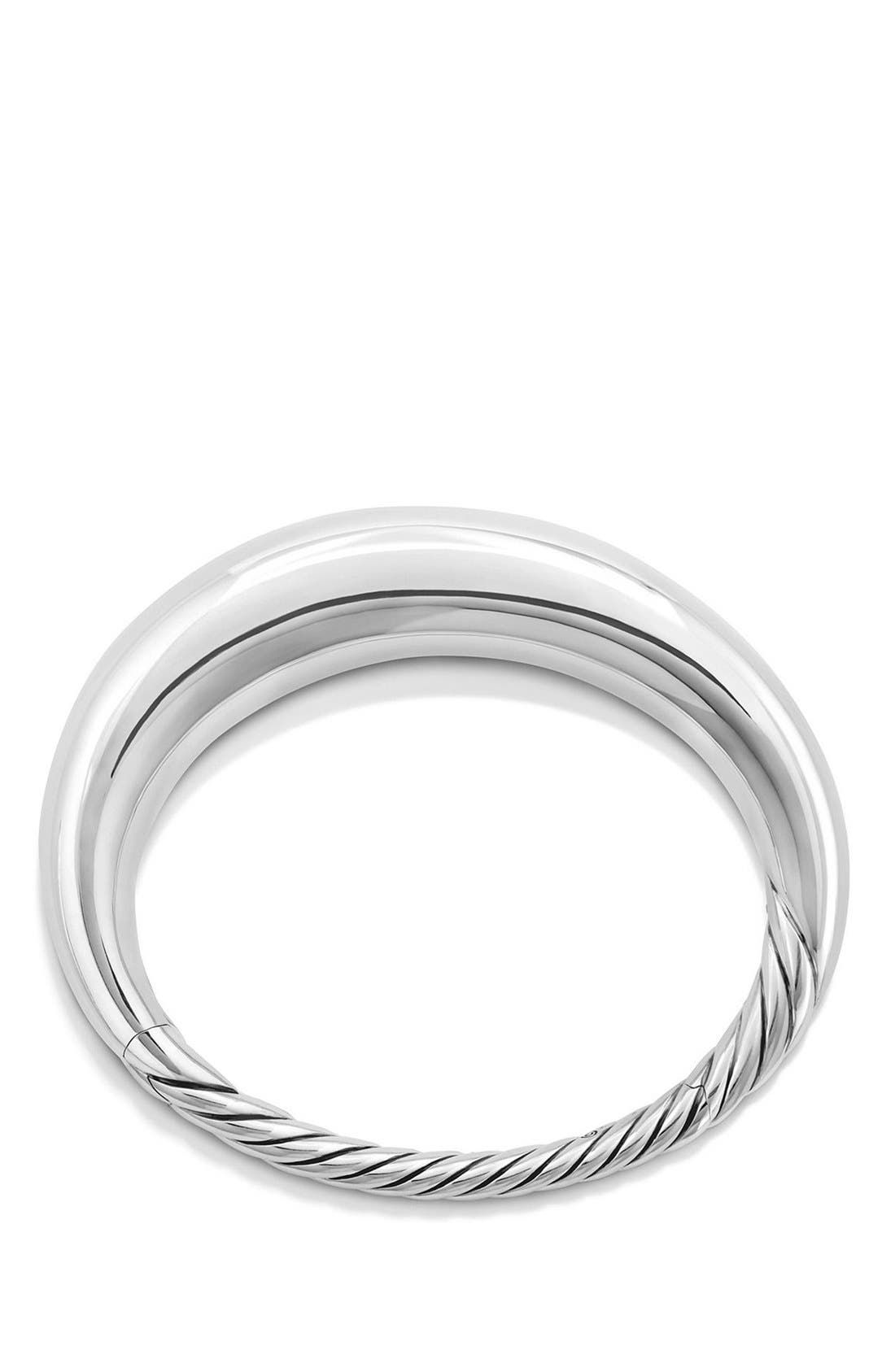 'Pure Form' Large Sterling Silver Bracelet,                             Alternate thumbnail 2, color,                             SILVER