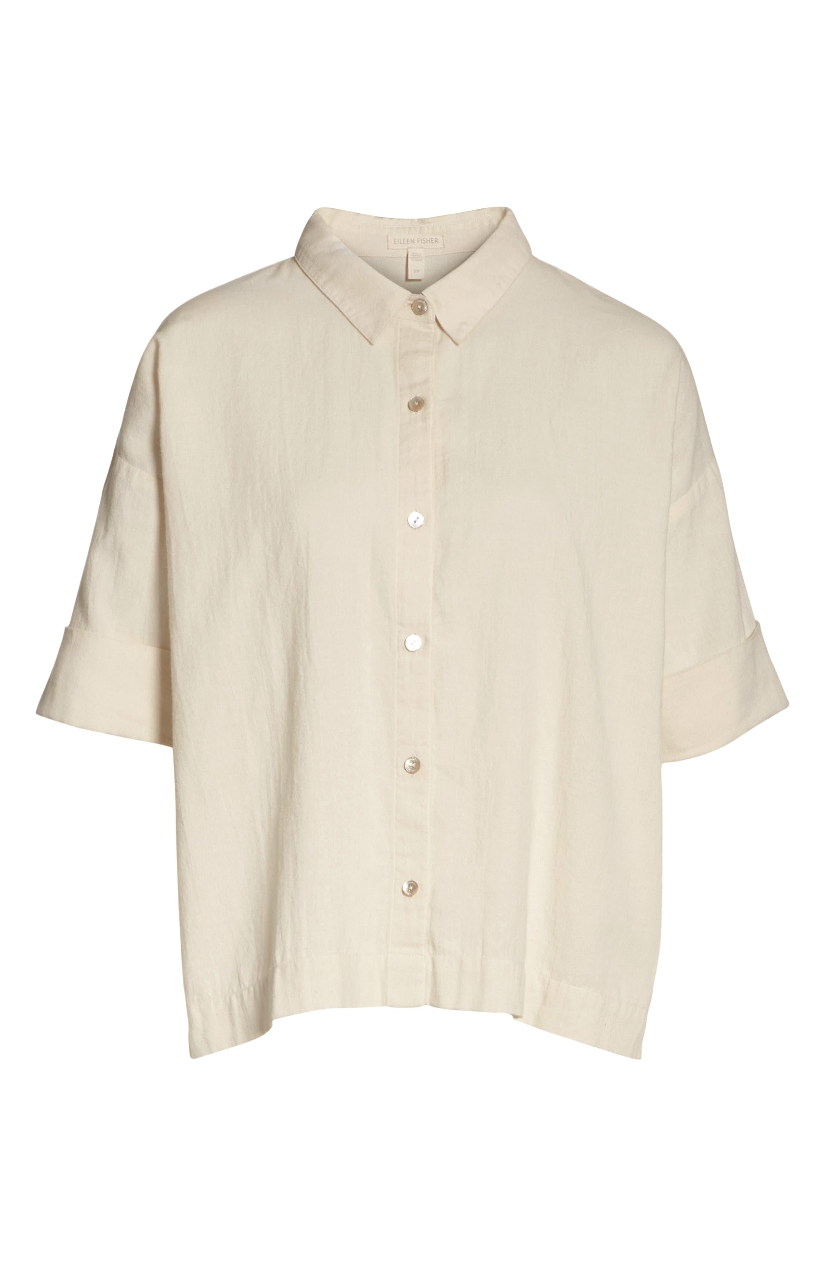 Classic Boxy Shirt,                             Alternate thumbnail 11, color,