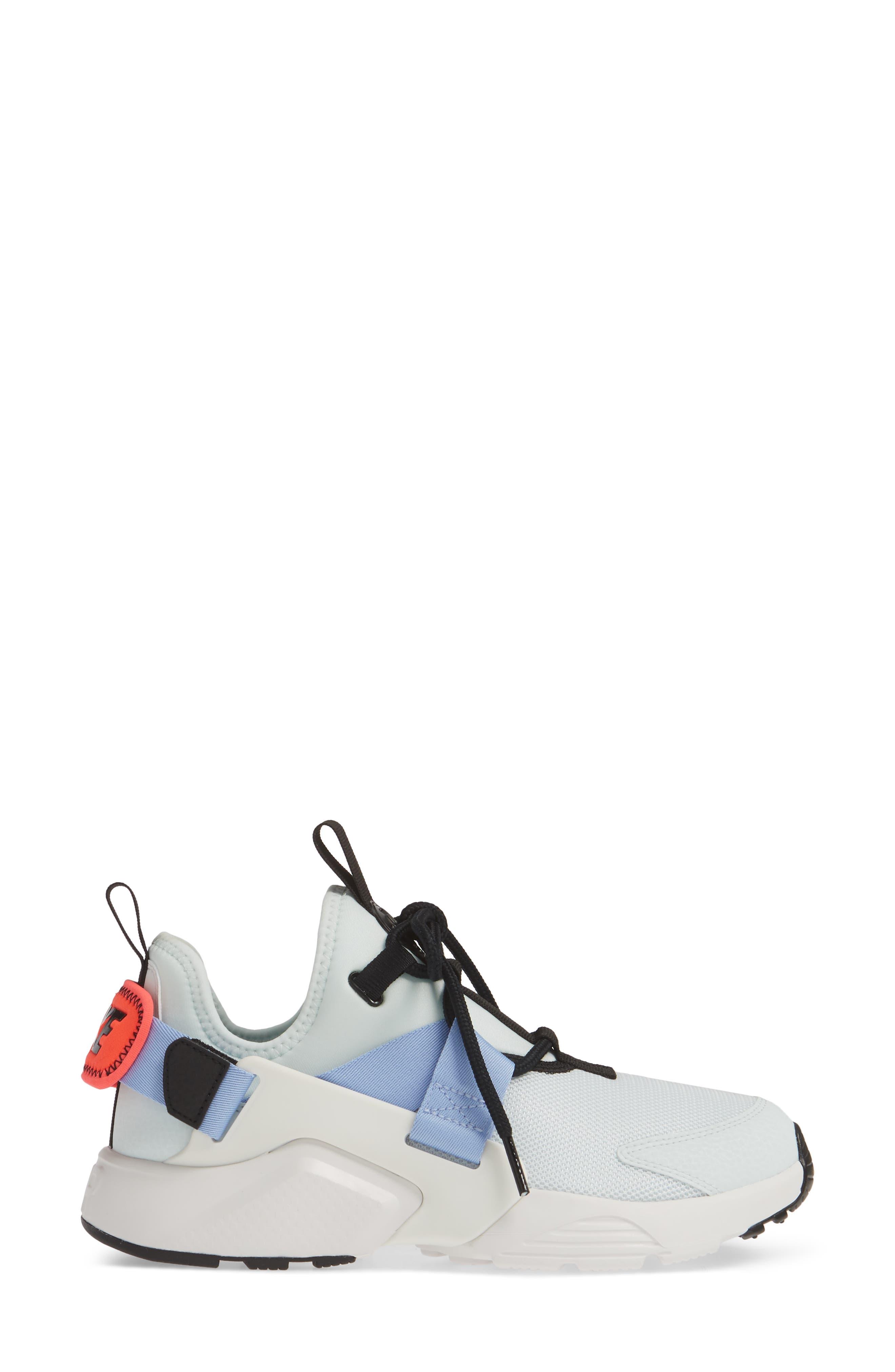 NIKE,                             Air Huarache City Sneaker,                             Alternate thumbnail 3, color,                             GHOST AQUA/ BLACK/ WHITE