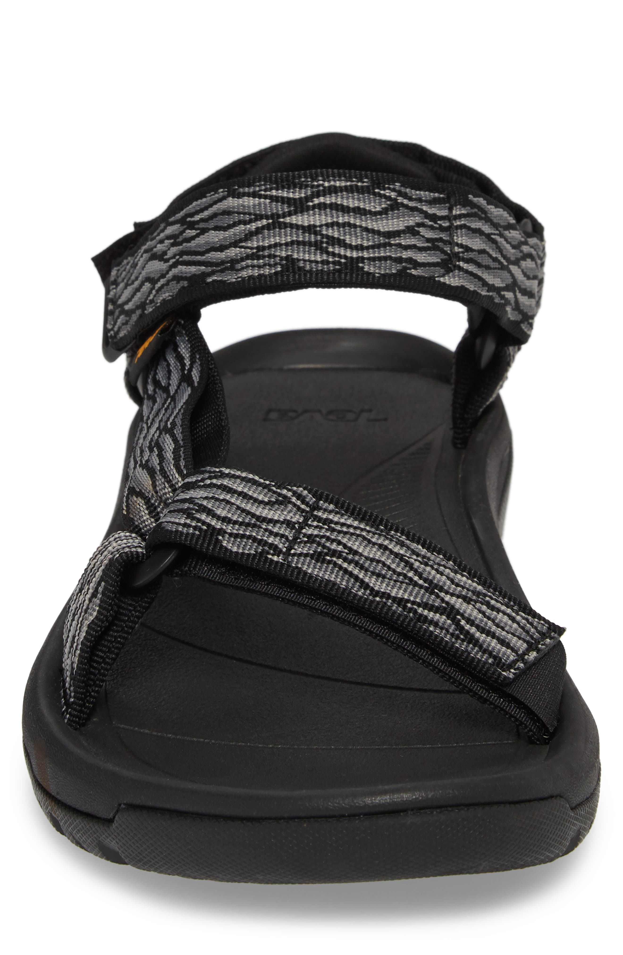 Hurricane XLT 2 Sandal,                             Alternate thumbnail 4, color,                             BLACK/ GREY NYLON
