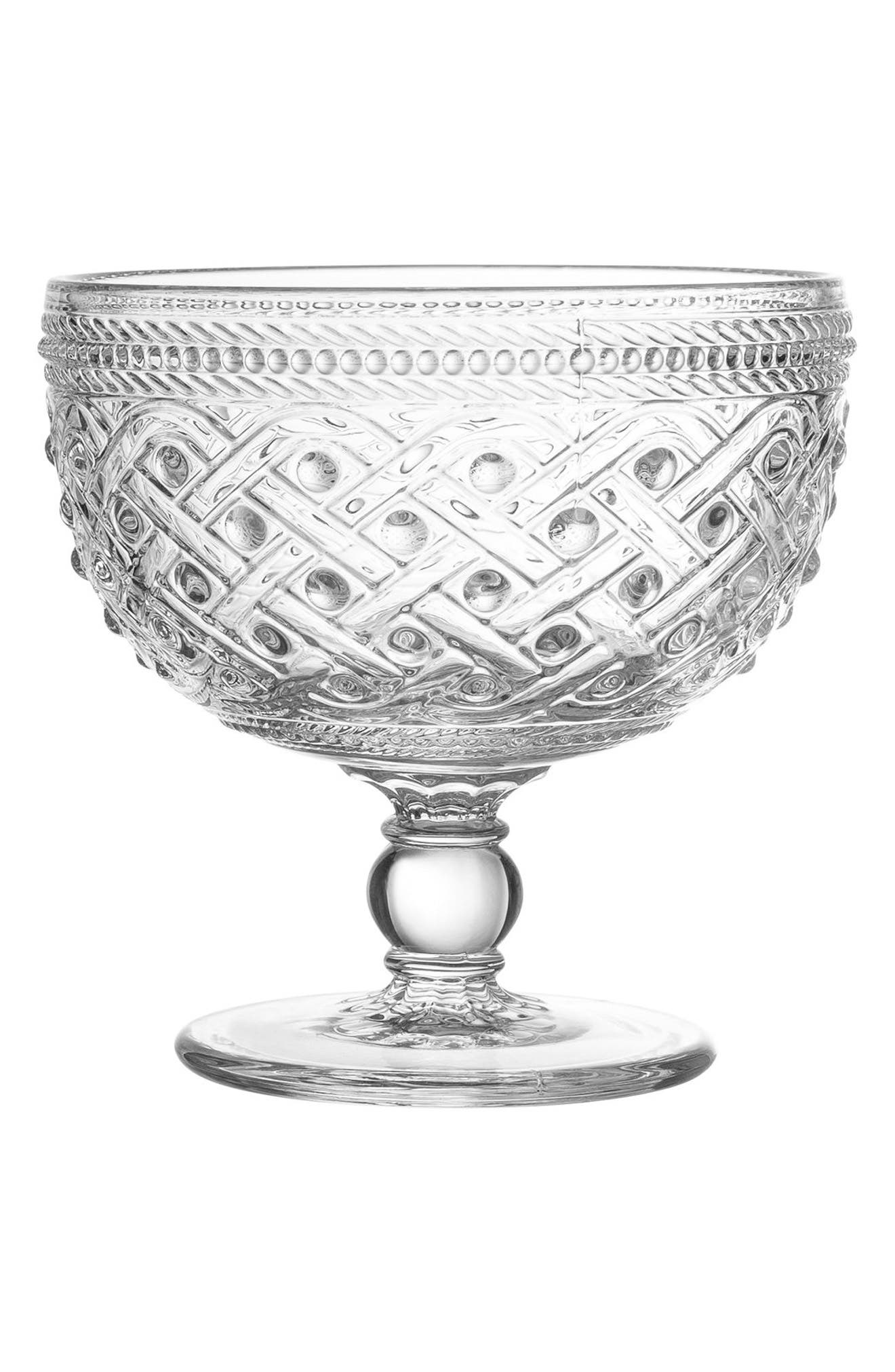 Bistro Ikat Set of 4 Pedestal Bowls,                             Main thumbnail 1, color,                             100