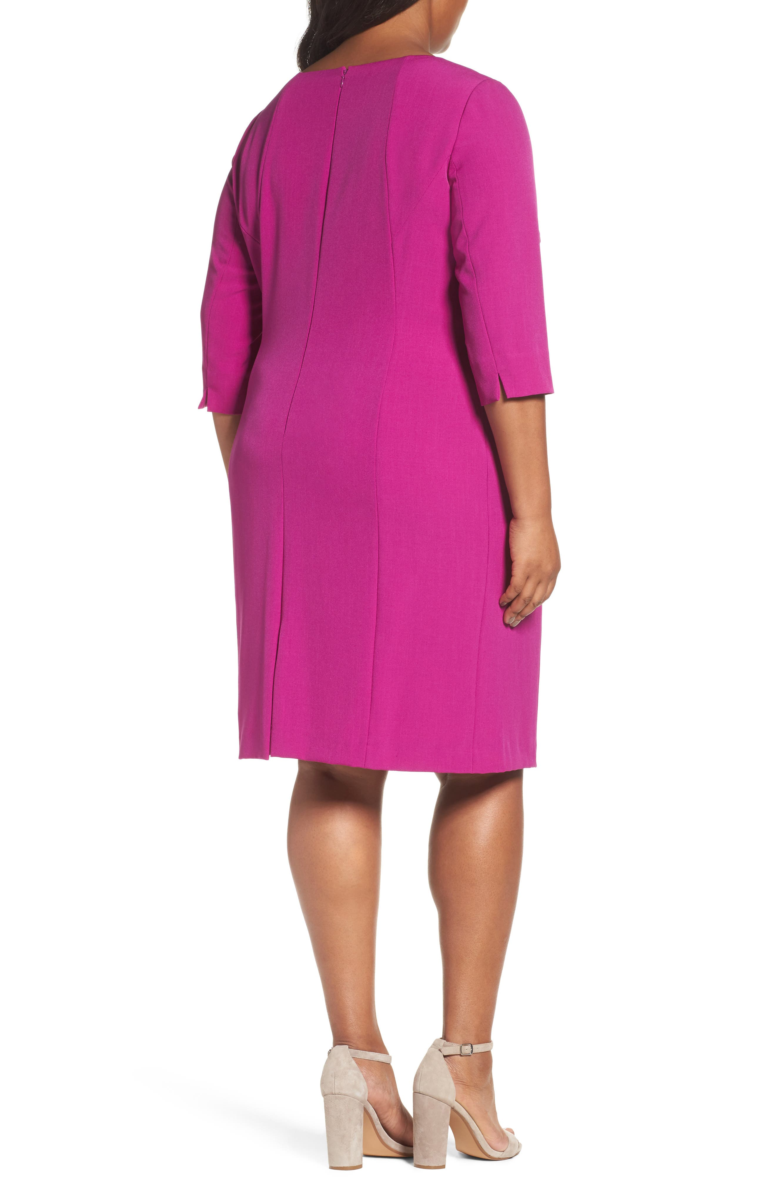 Ruched Sheath Dress,                             Alternate thumbnail 2, color,                             501