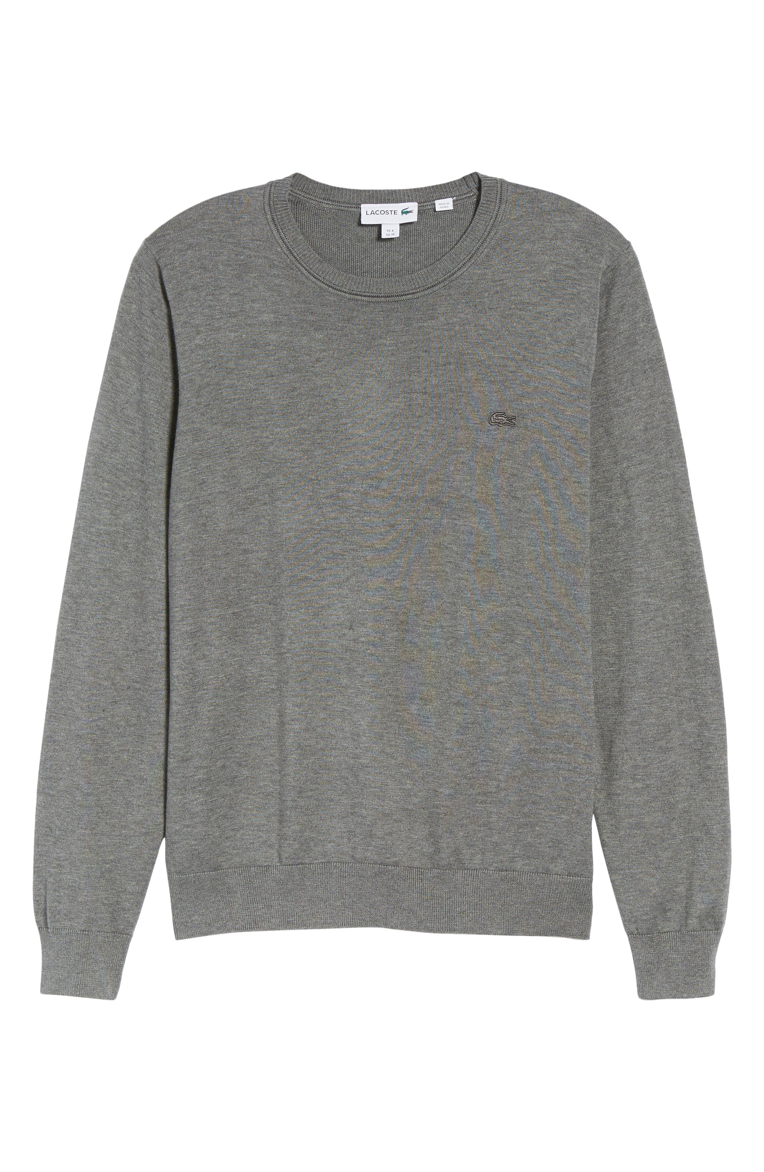 Jersey Knit Crewneck Sweater,                             Alternate thumbnail 6, color,                             032