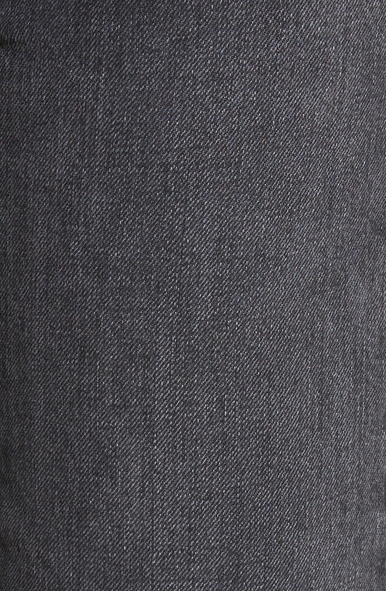 Tilson Crop Frayed Wide Leg Jeans,                             Alternate thumbnail 5, color,                             001