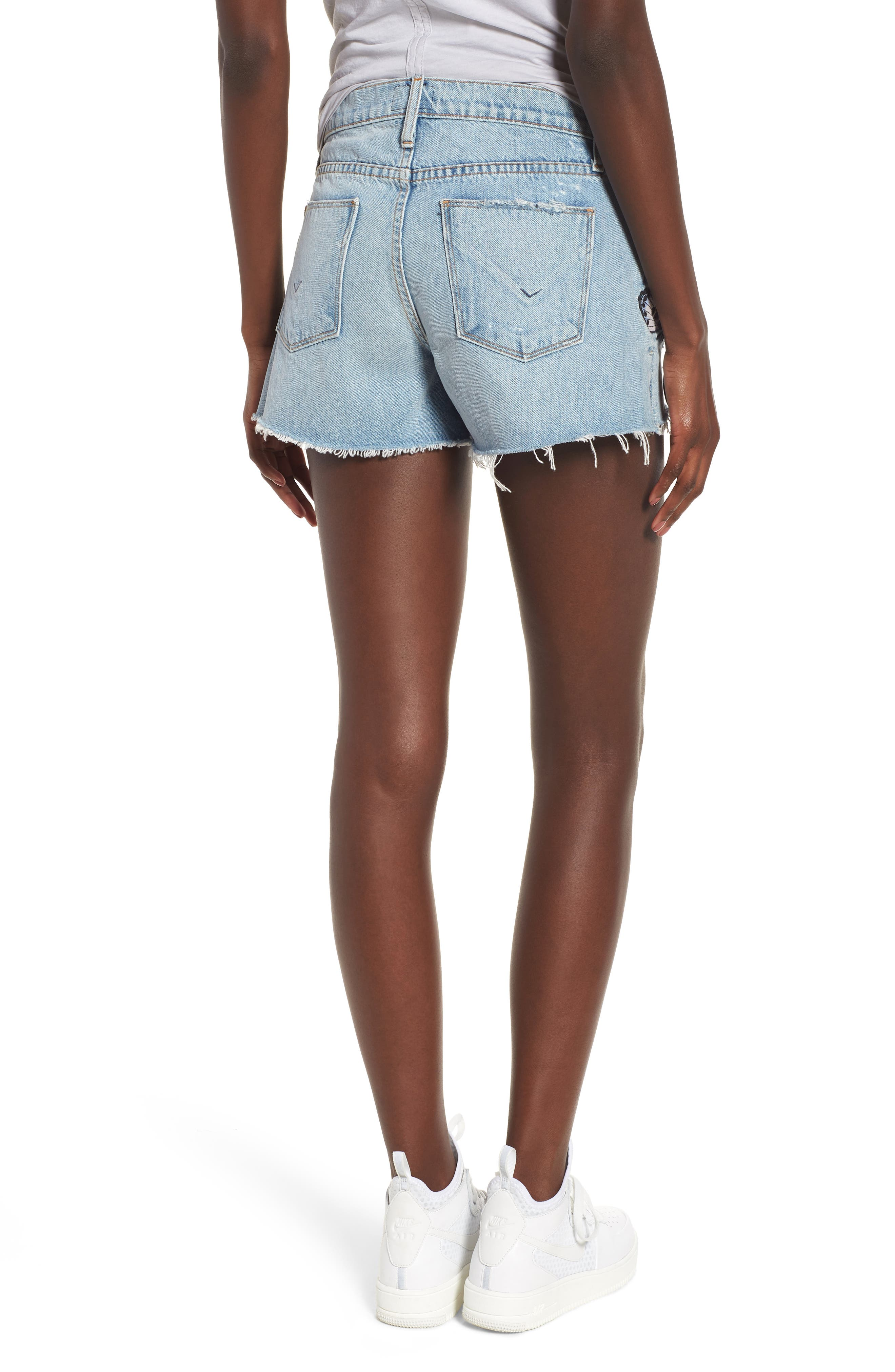 Sade Cutoff Denim Shorts,                             Alternate thumbnail 2, color,                             454