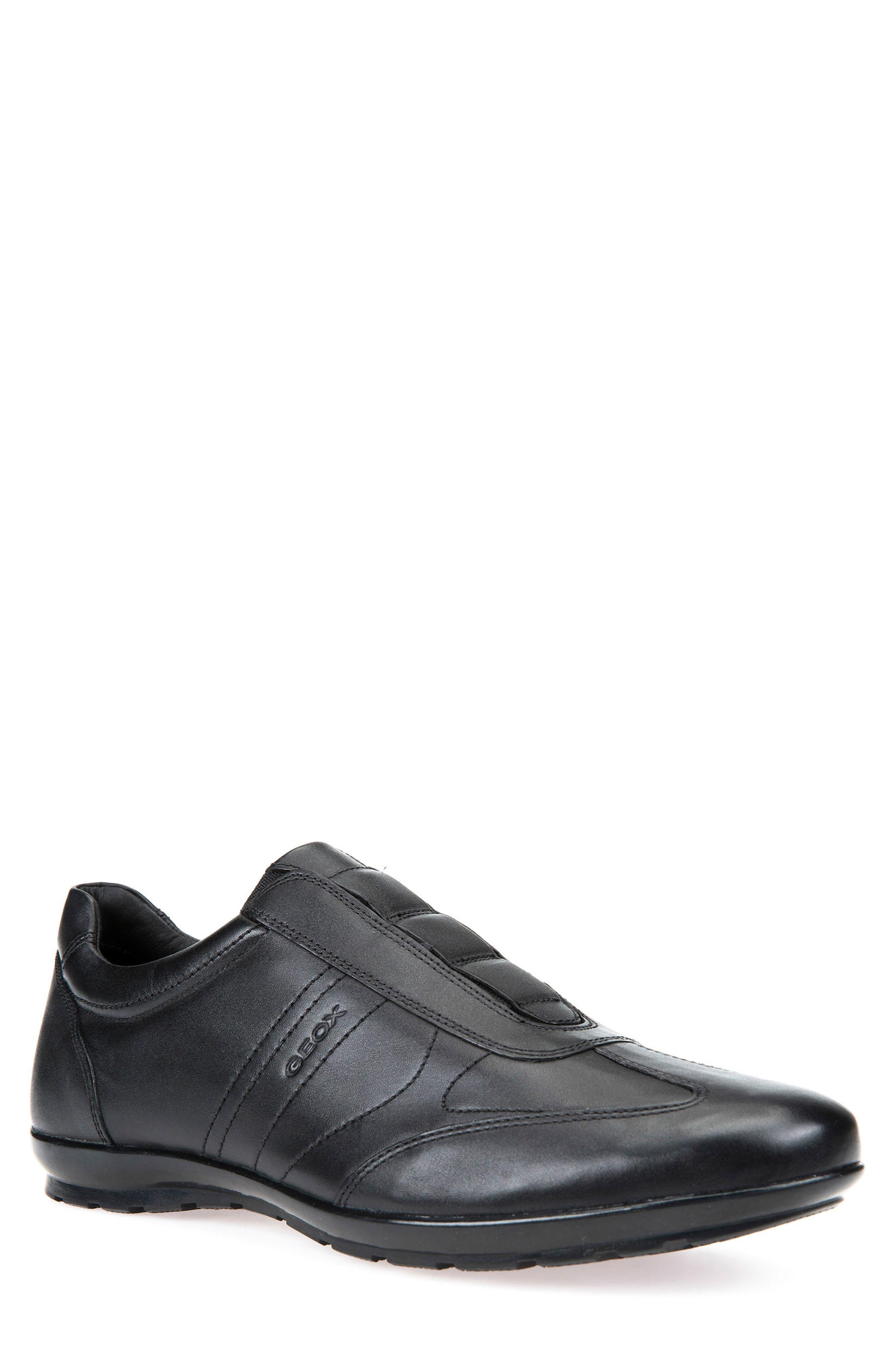 Symbol 21 Slip-On Sneaker,                             Main thumbnail 1, color,                             BLACK LEATHER