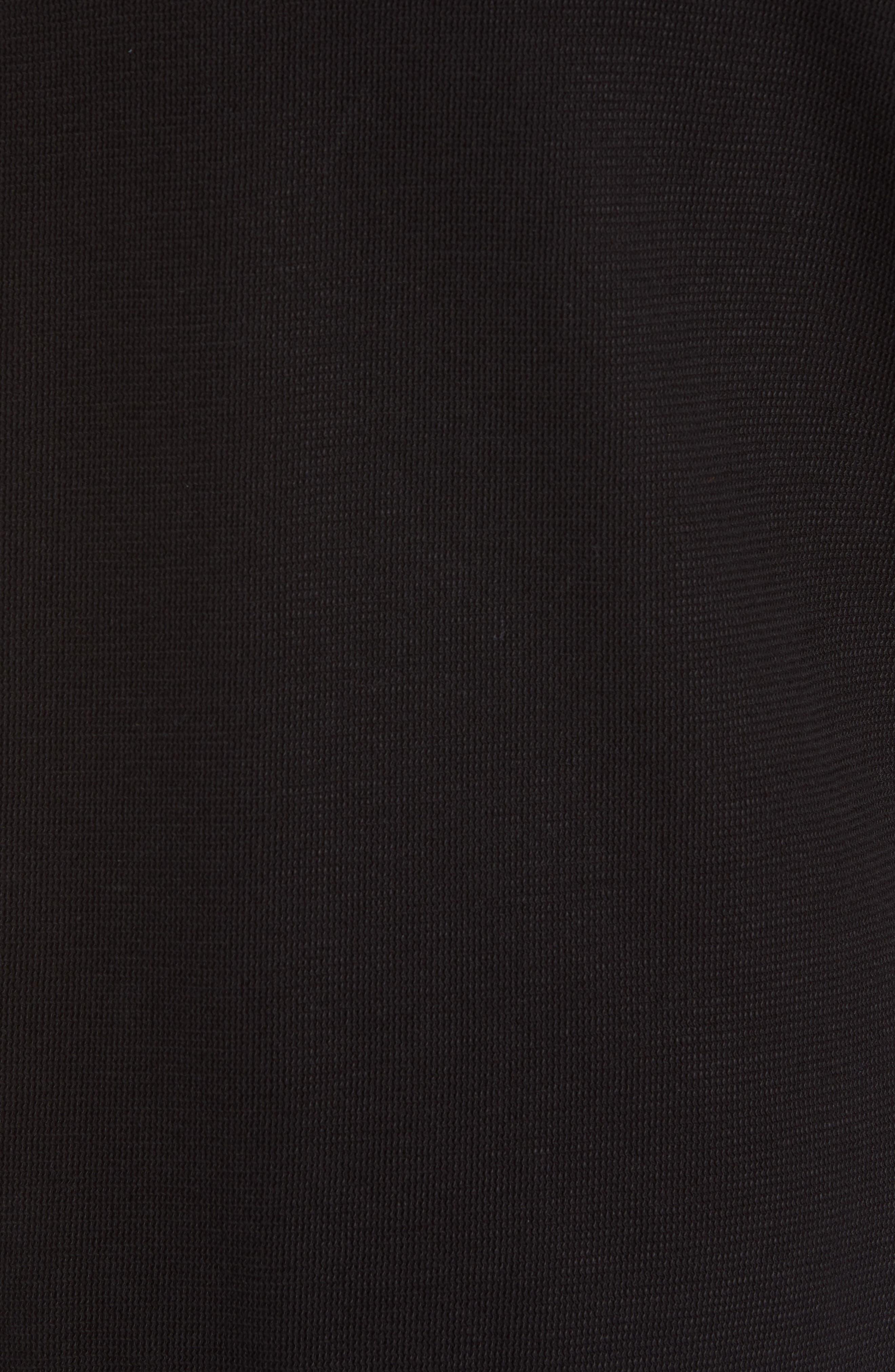 THEORY,                             Essential Zip Hoodie,                             Alternate thumbnail 5, color,                             BLACK