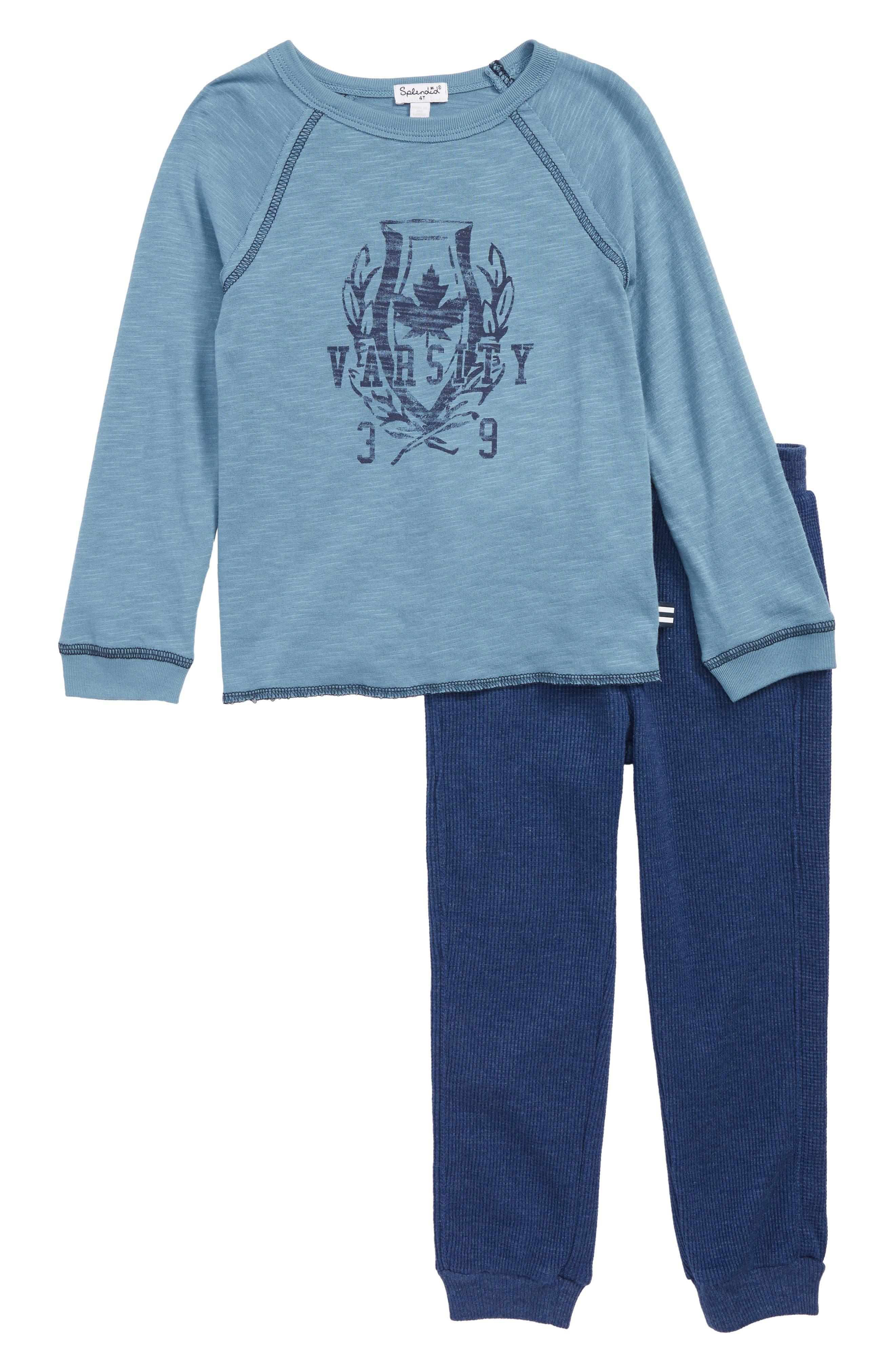 SPLENDID Raglan Shirt & Jogger Pants Set, Main, color, 420