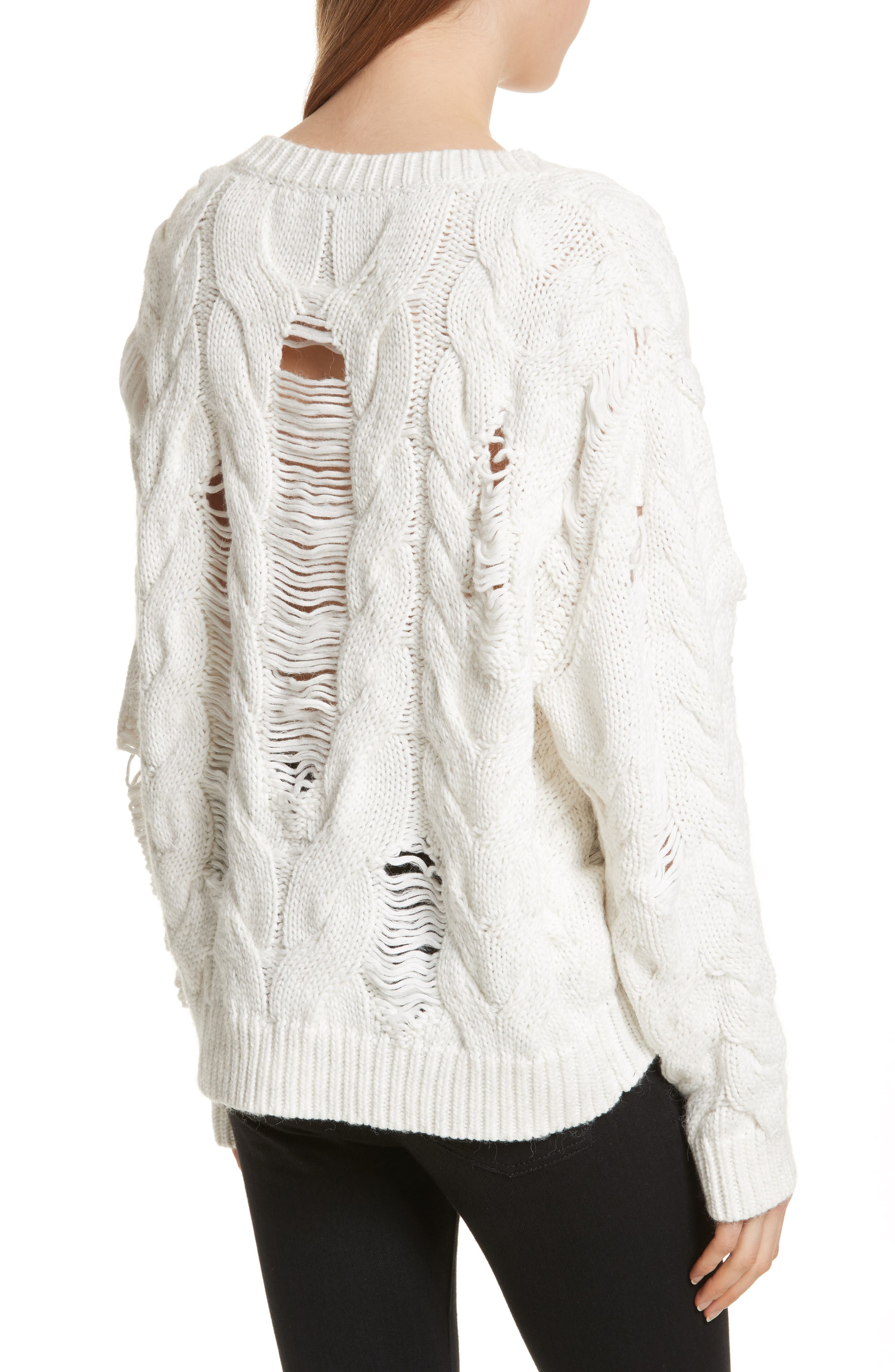 Fighla Distressed Sweater,                             Alternate thumbnail 2, color,                             010