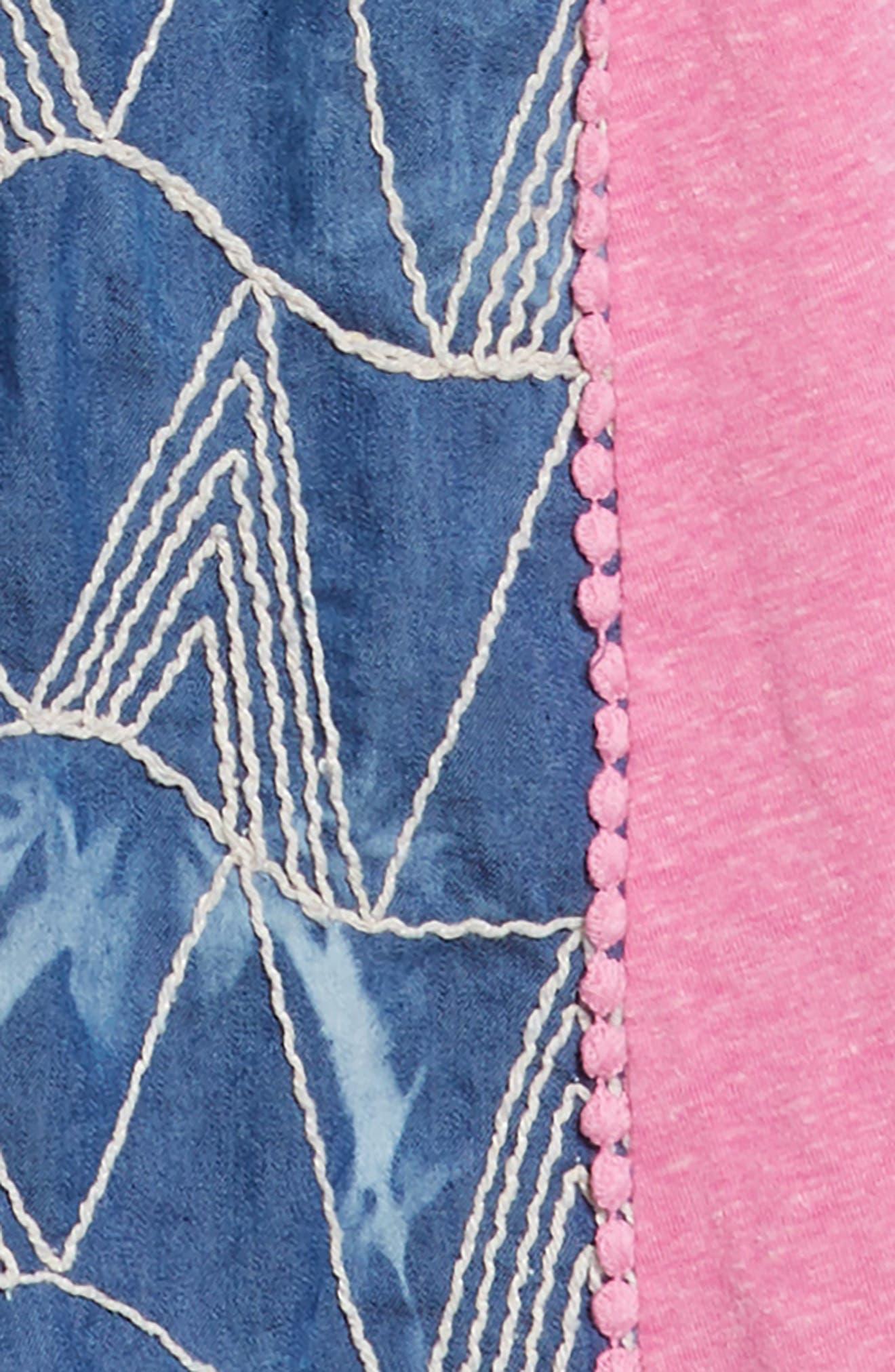 Mikki Miette India Embroidered Dress,                             Alternate thumbnail 3, color,                             400