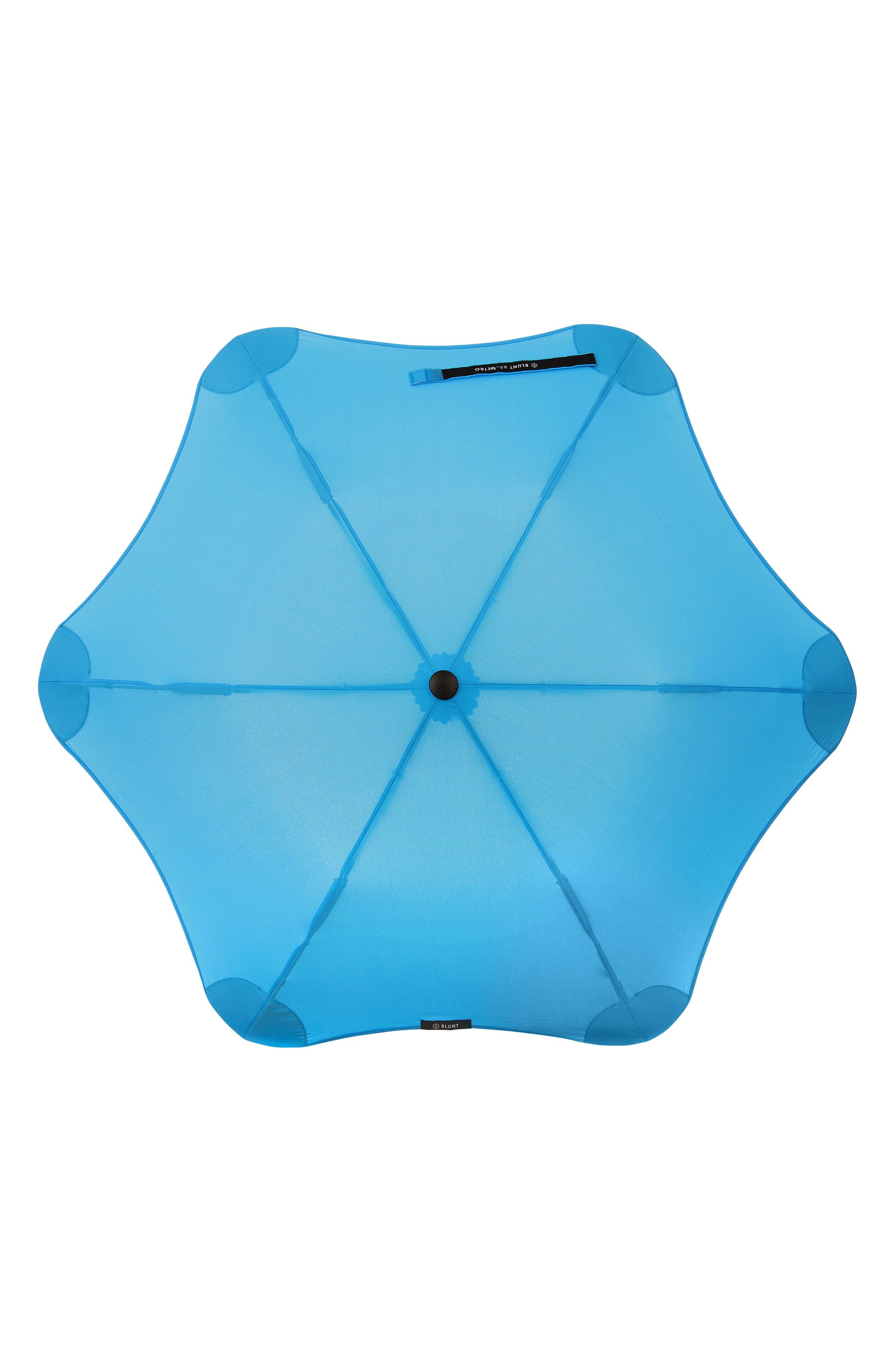 Metro Umbrella,                             Alternate thumbnail 3, color,                             AQUA BLUE