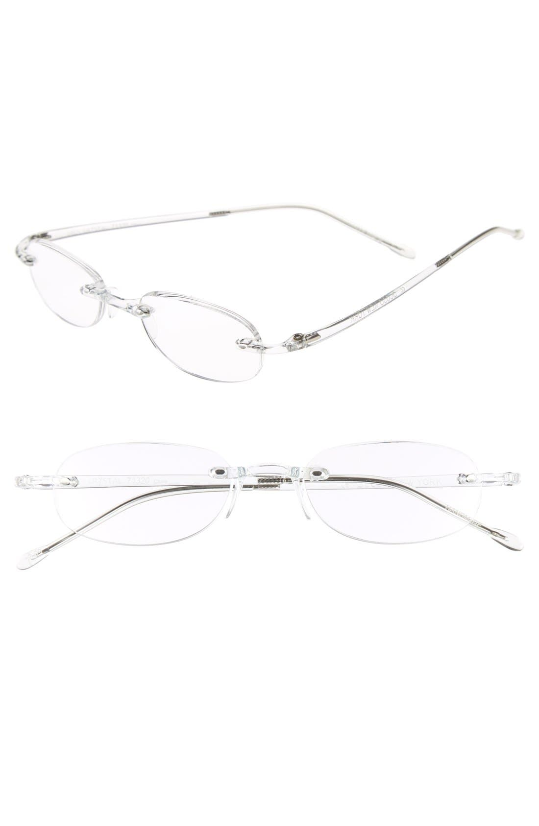 'Gels - Crystal' 48mm Reading Glasses,                             Main thumbnail 1, color,                             100