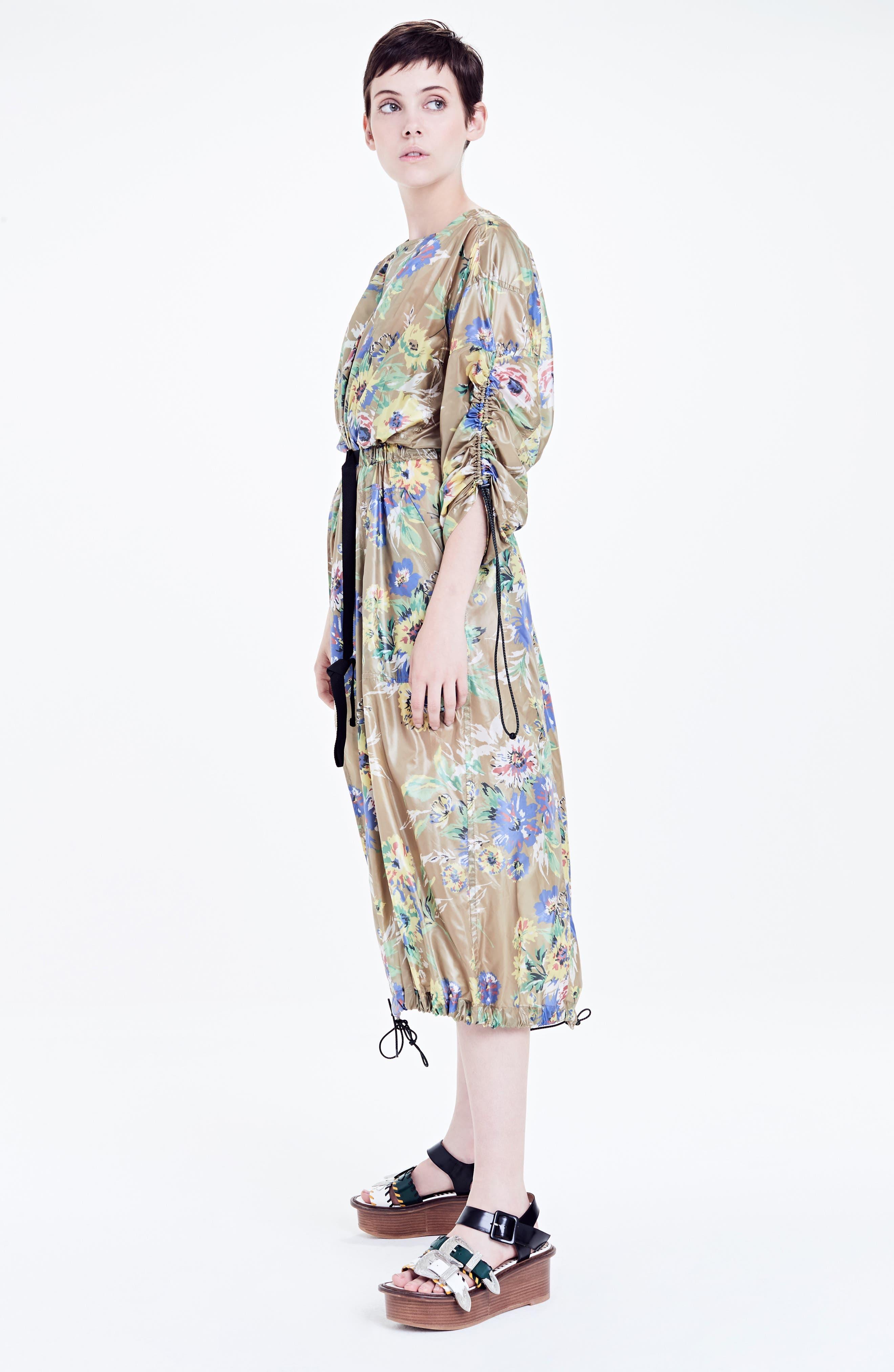 Floral Print Dress,                             Alternate thumbnail 7, color,                             700