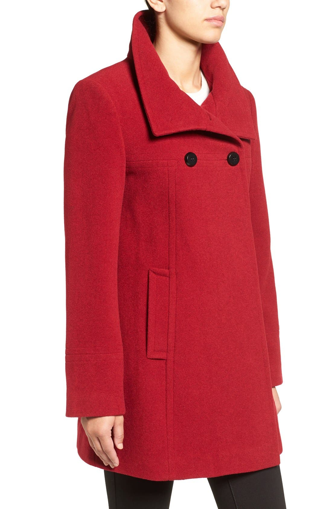 Double Breasted Coat,                             Alternate thumbnail 18, color,