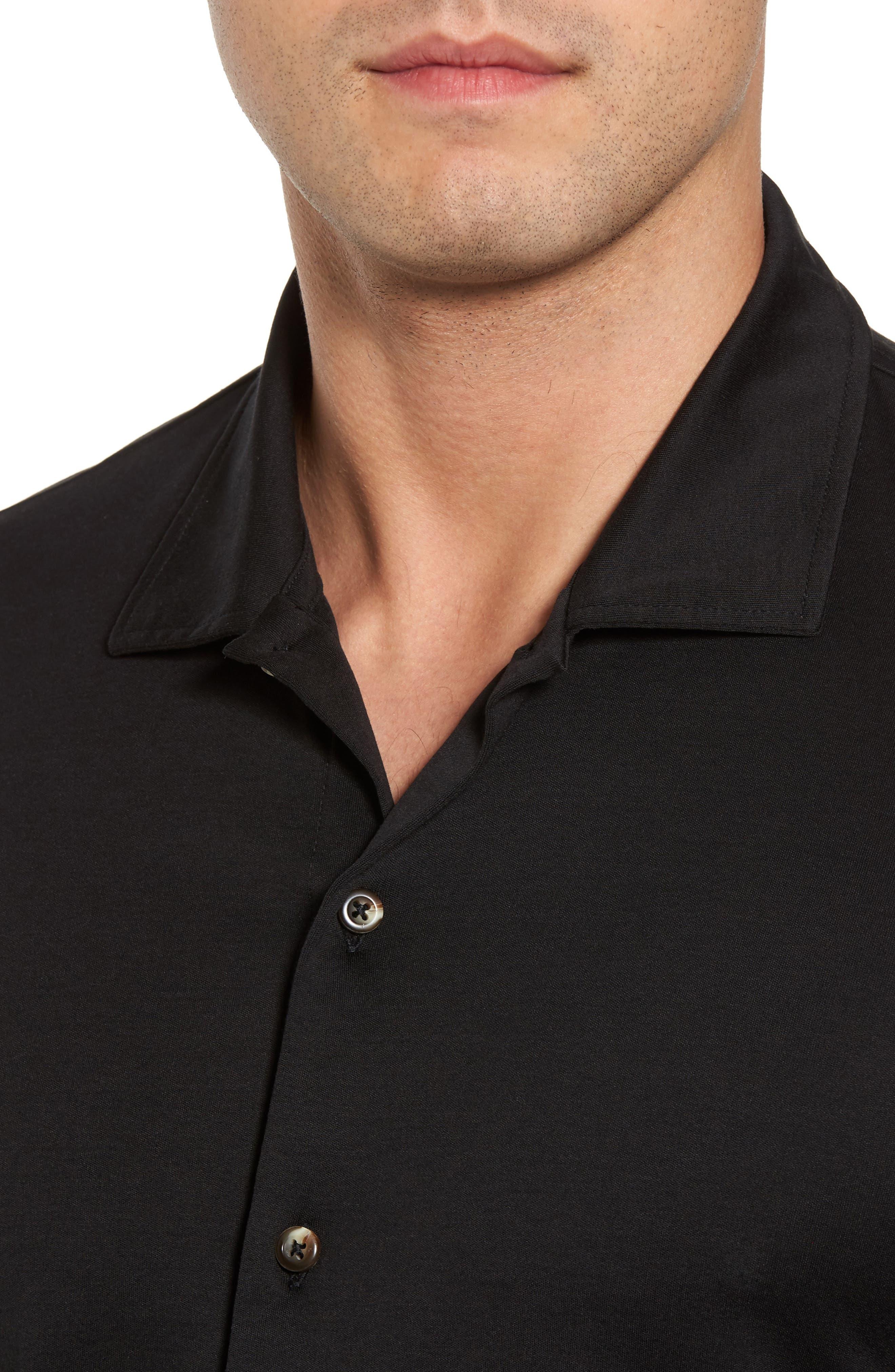 Interlock Knit Sport Shirt,                             Alternate thumbnail 4, color,                             002
