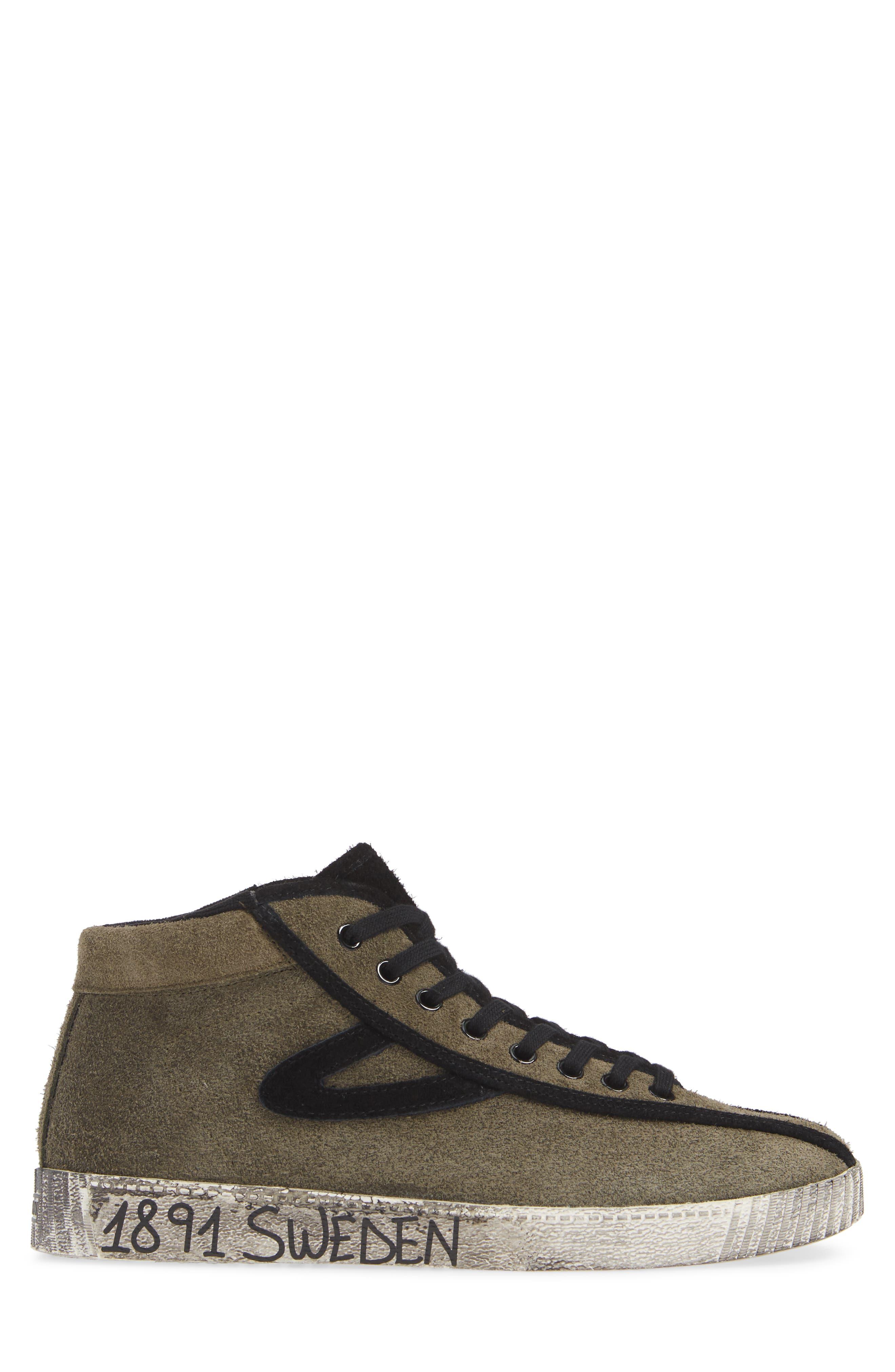 Nylite Hi 21 High Top Sneaker,                             Alternate thumbnail 3, color,                             OLIVE/ BLACK SUEDE