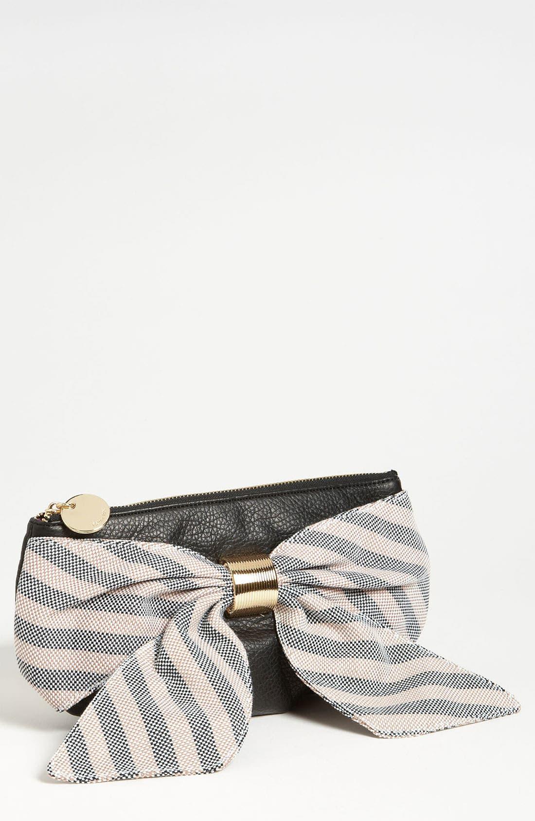 DEUX LUX 'Heidi Girl' Stripe Box Clutch, Main, color, 001